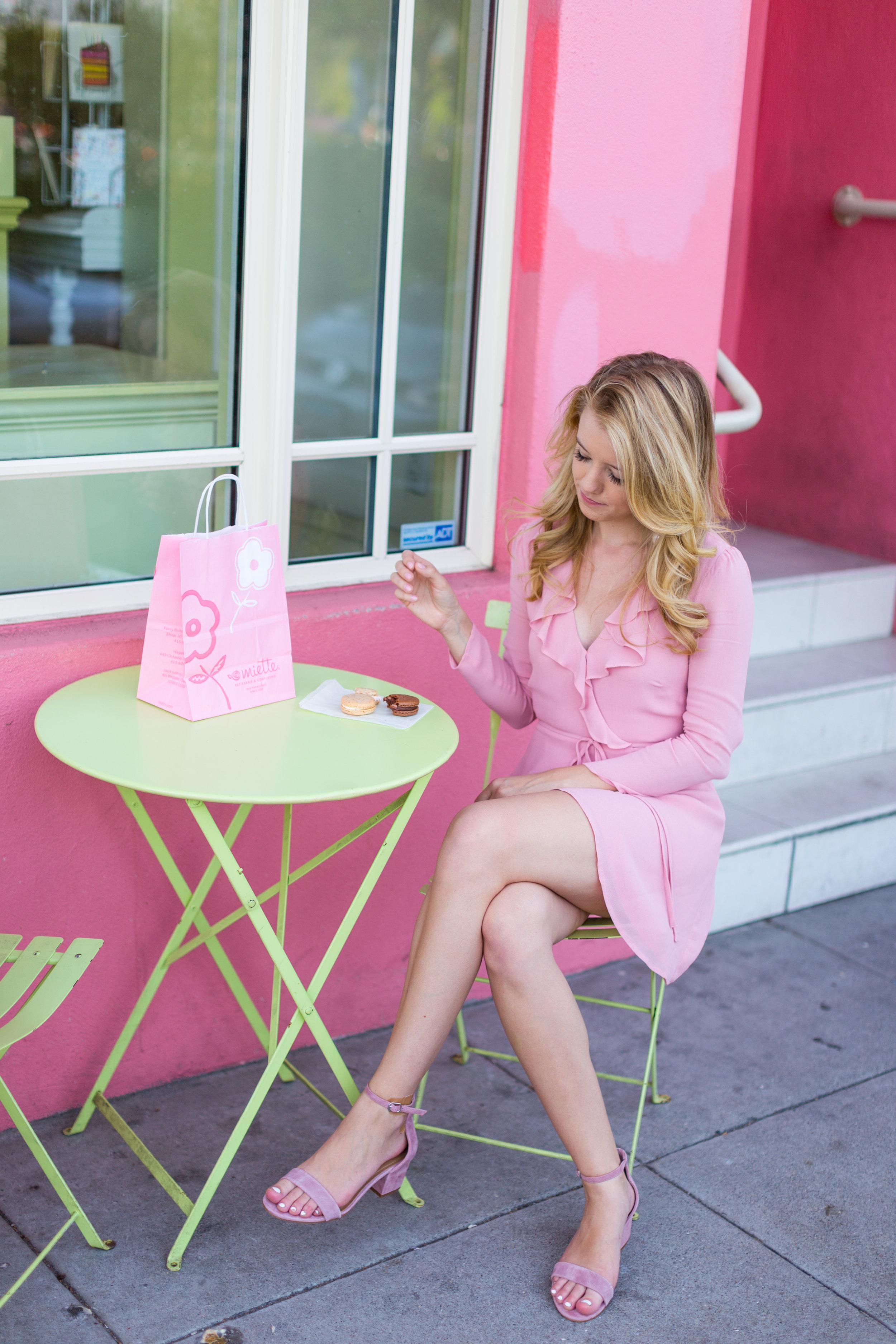 Pink Ruffle Wrap Dress Spring in San Francisco-9.jpg