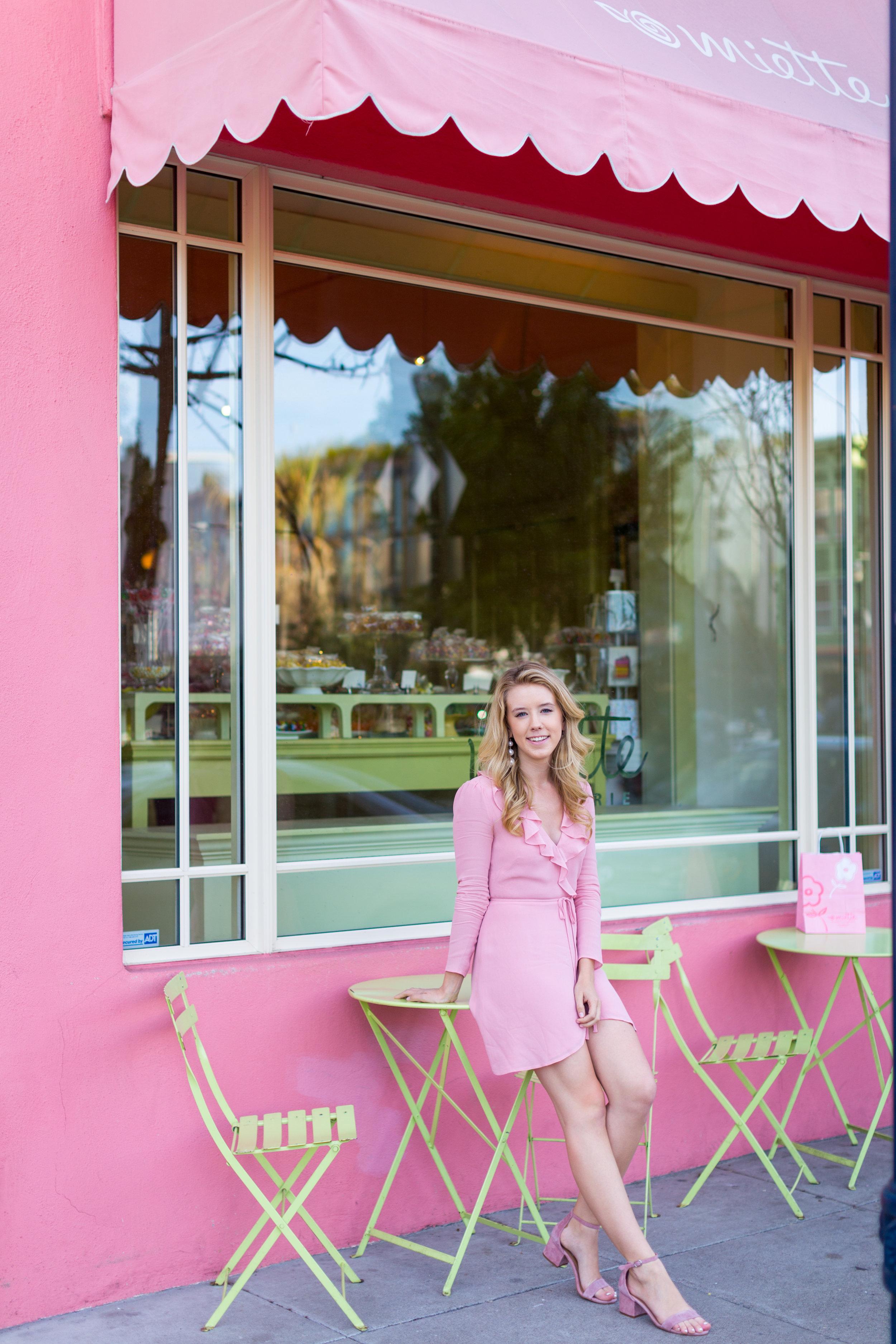 Pink Ruffle Wrap Dress Spring in San Francisco-11.jpg