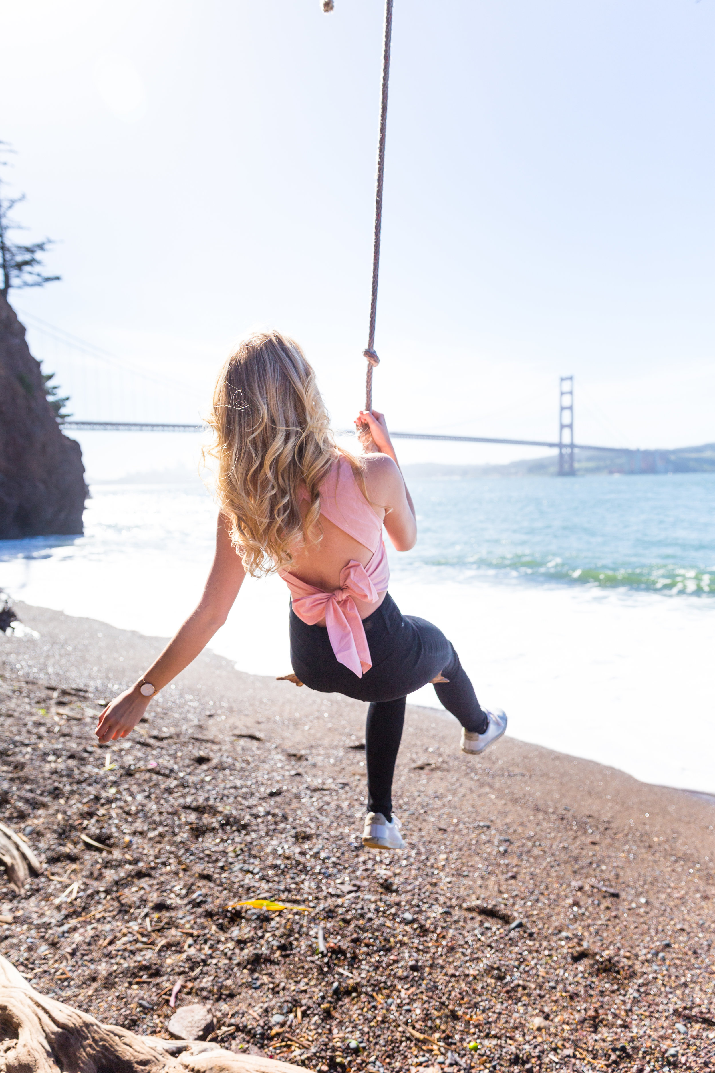 Pink Bow Back Top Swing Spring in San Francisco-6.jpg
