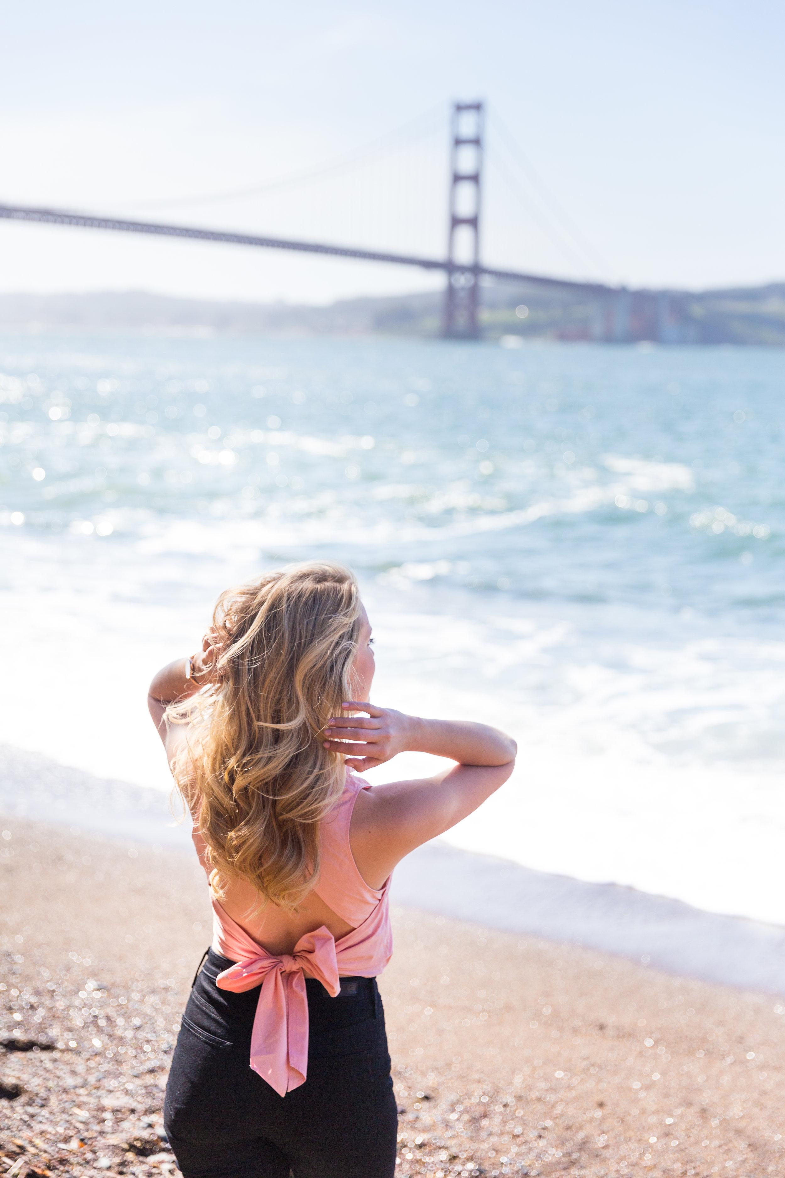 Pink Bow Back Top Swing Spring in San Francisco-11.jpg