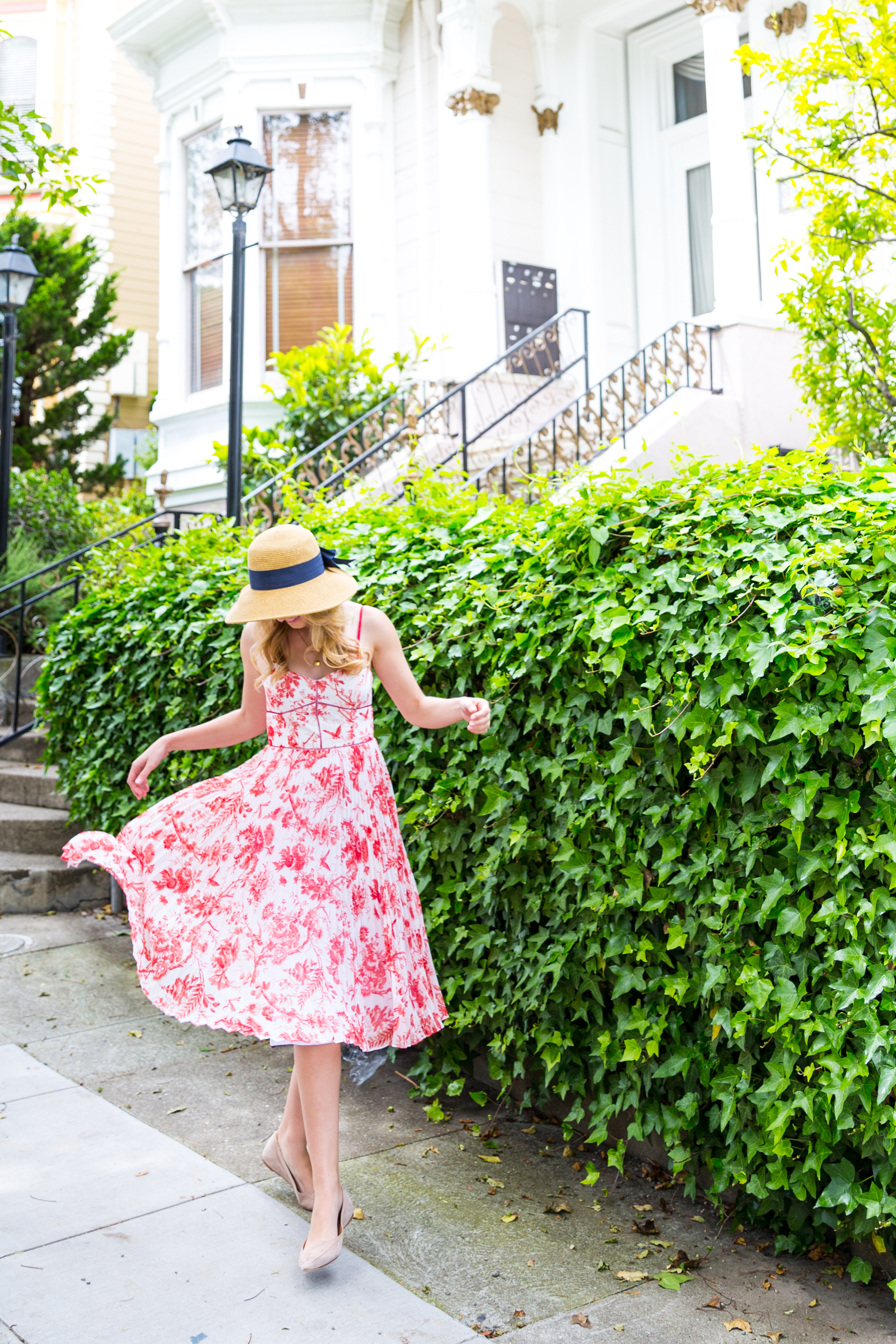 Red Pattern Dress Spring in San Francisco-7.jpg