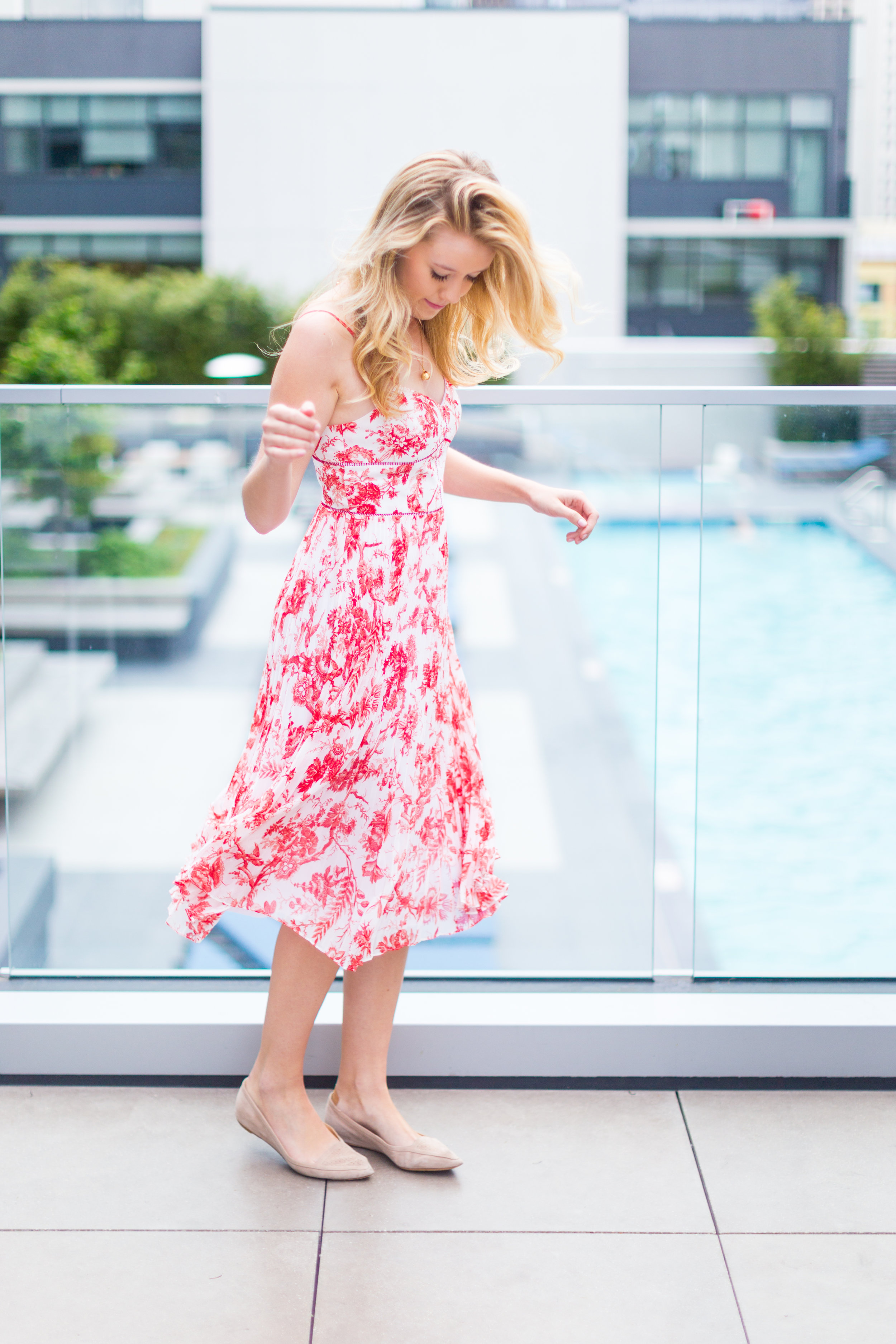 Red Pattern Dress Spring in San Francisco-10.jpg