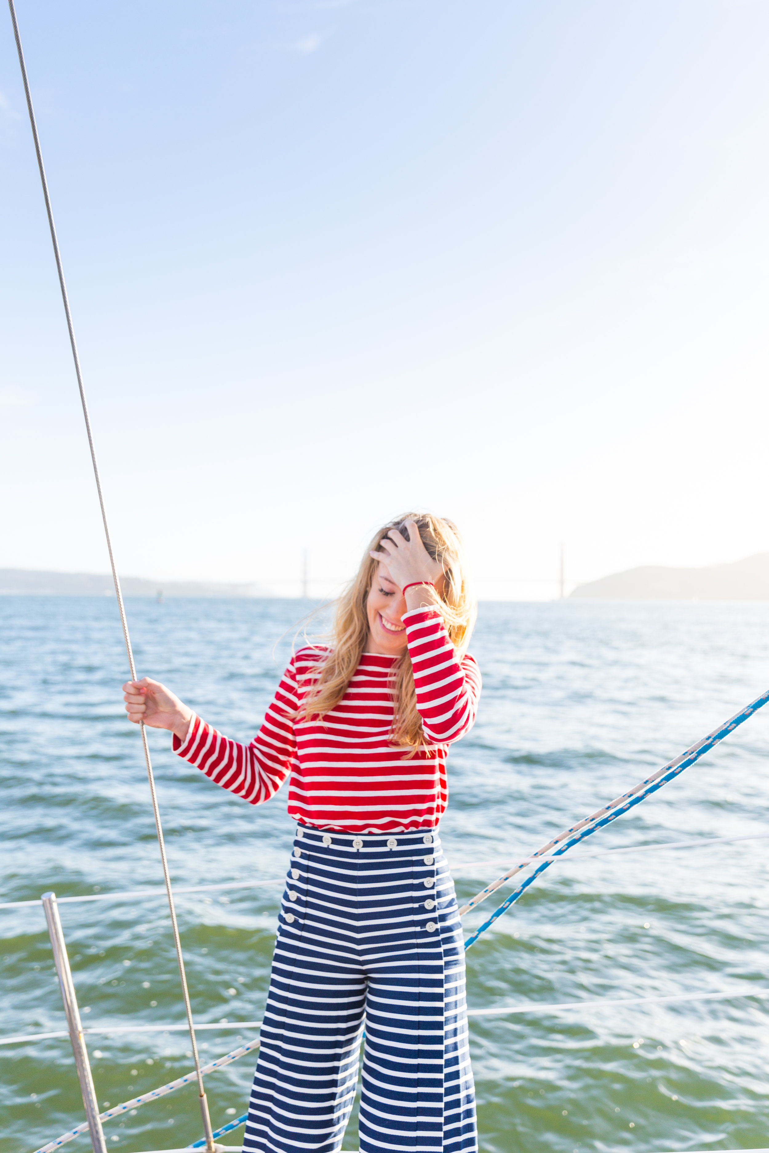Striped Nautical Sunset Sail Outfit San Francisco-12.jpg