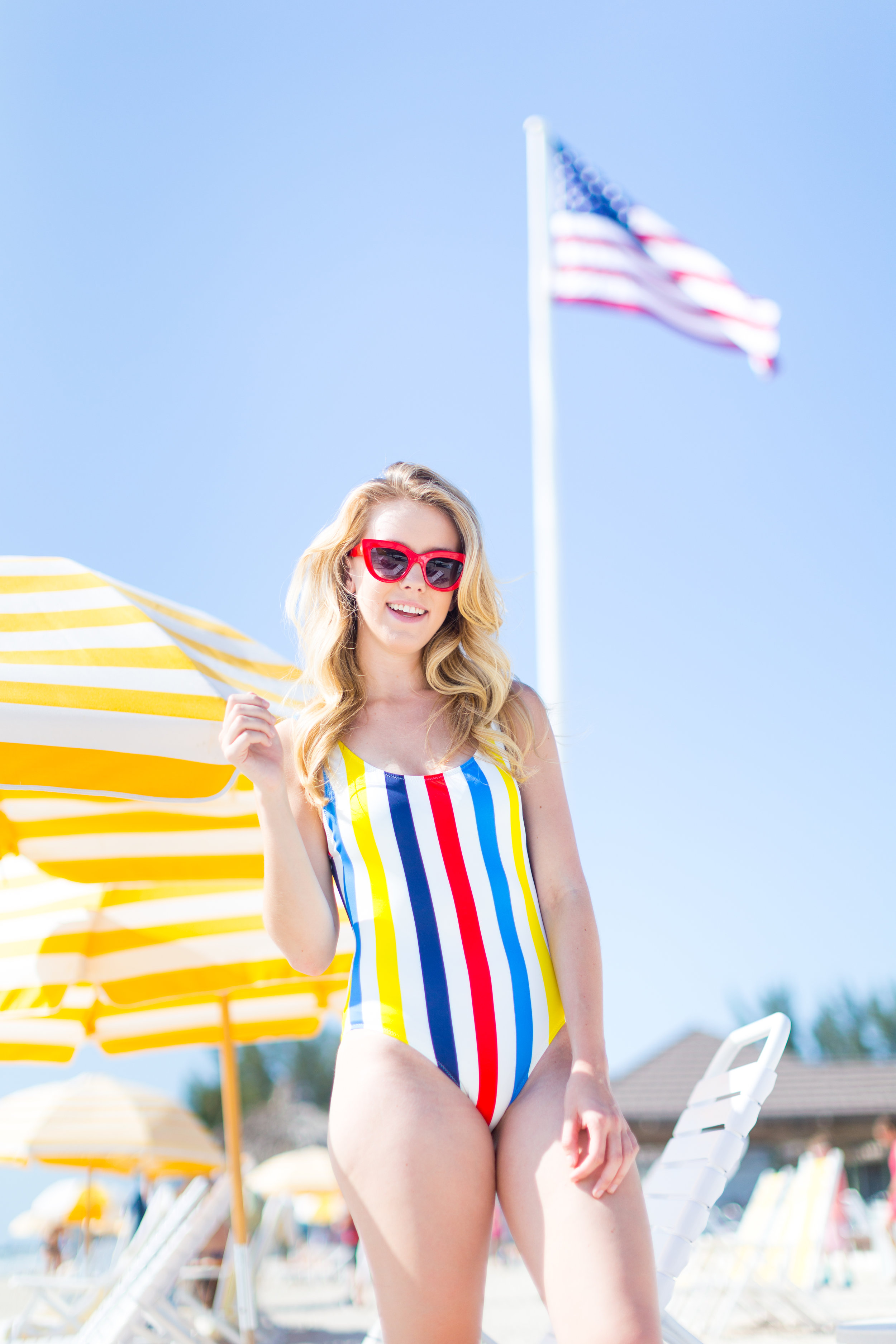Striped One Piece Swimsuit Boca Grande Florida Summer-12.jpg