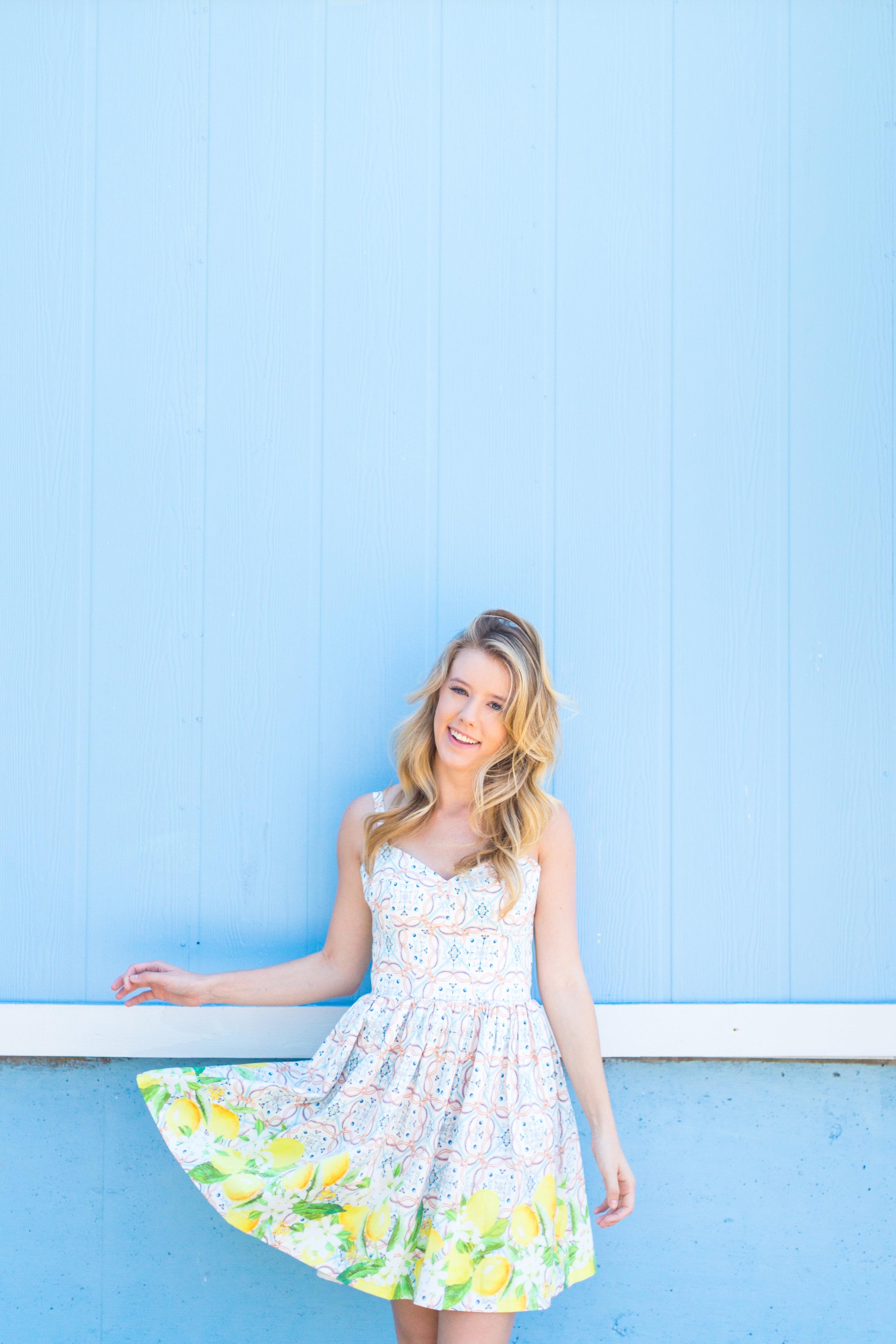 Lemon Tile Printed Summer Dress Florida-7.jpg