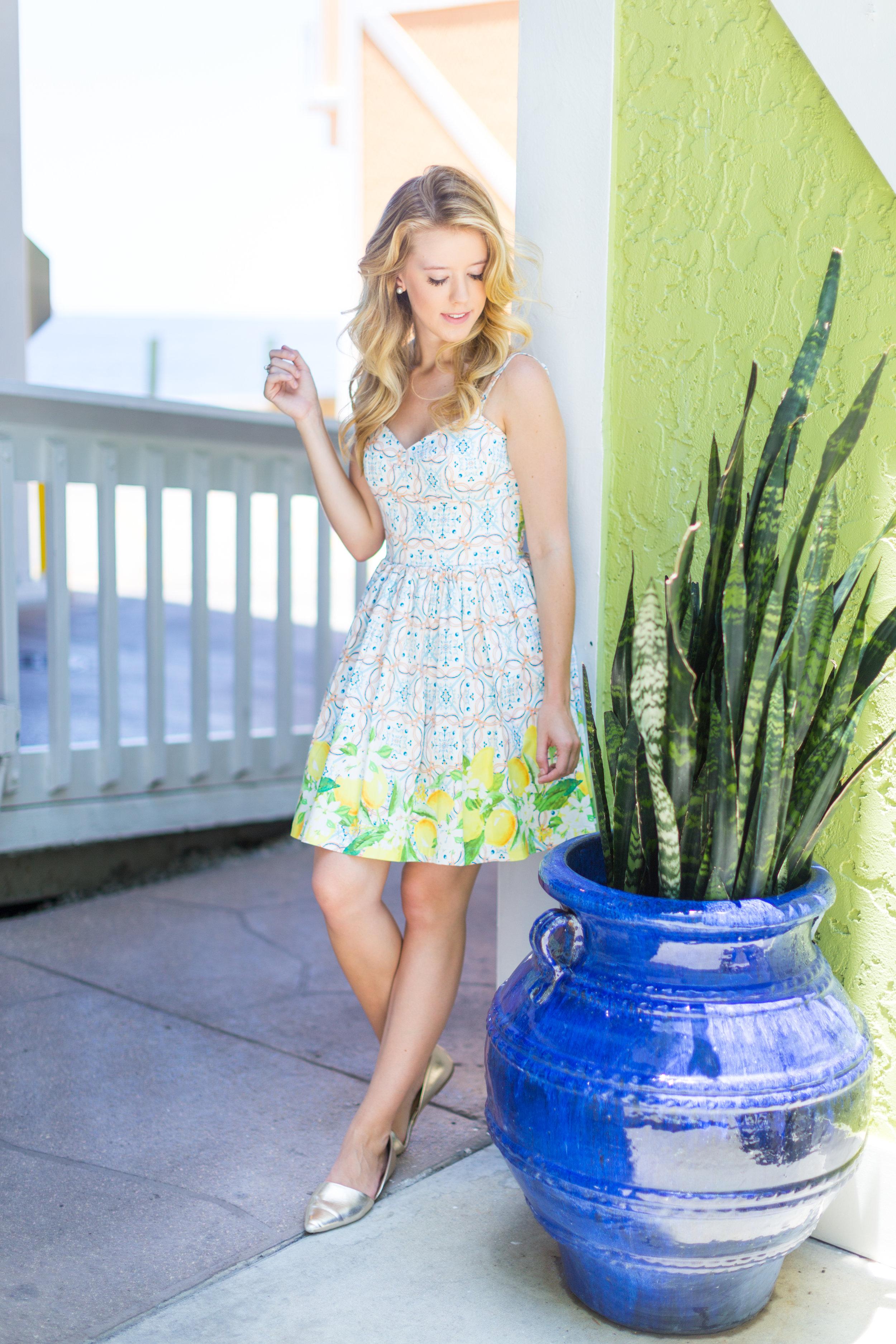 Lemon Tile Printed Summer Dress Florida-8.jpg