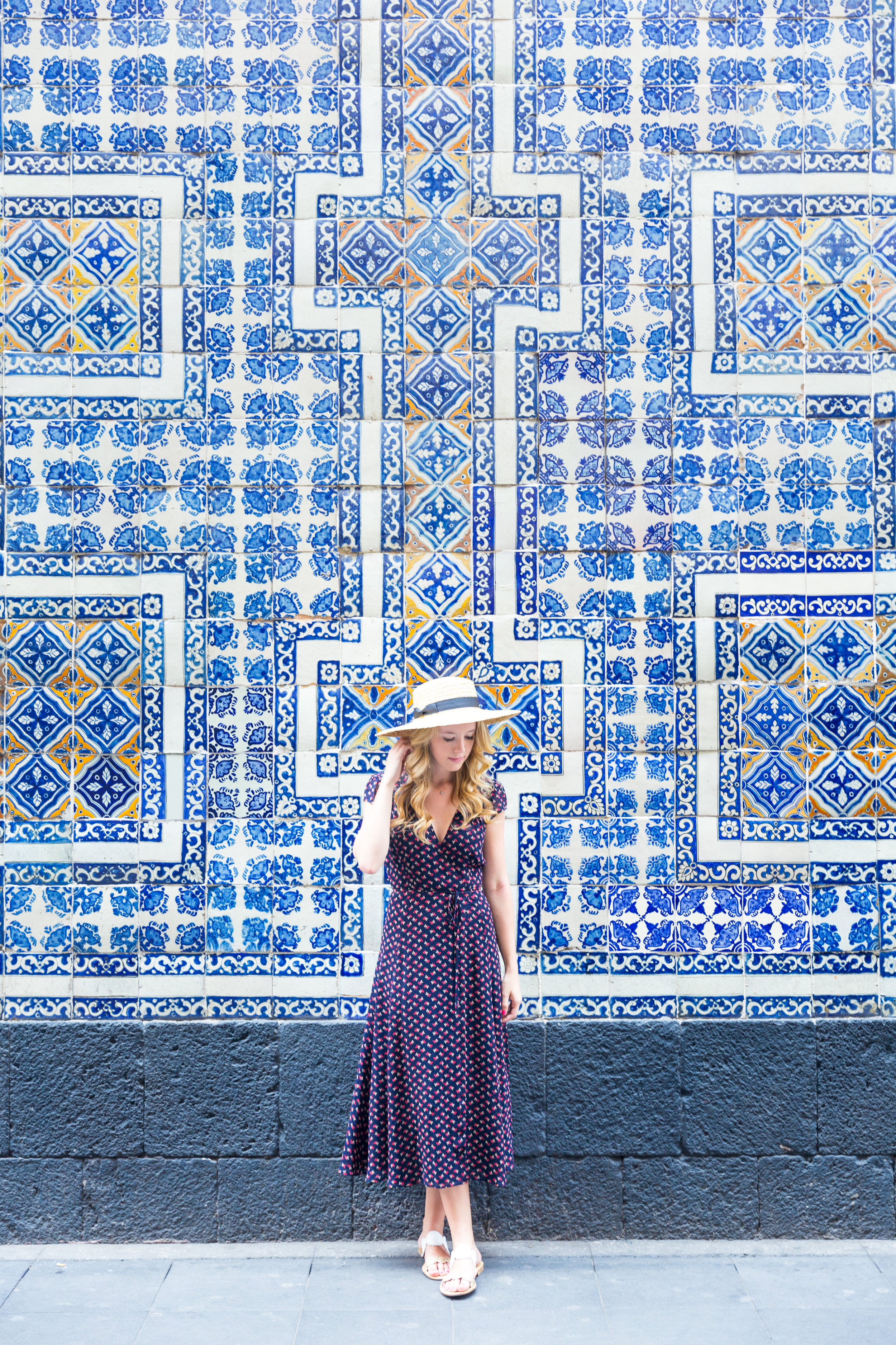 Mexico City Centro Historico Summer Outfit Pattern Wrap Dress_-2.jpg