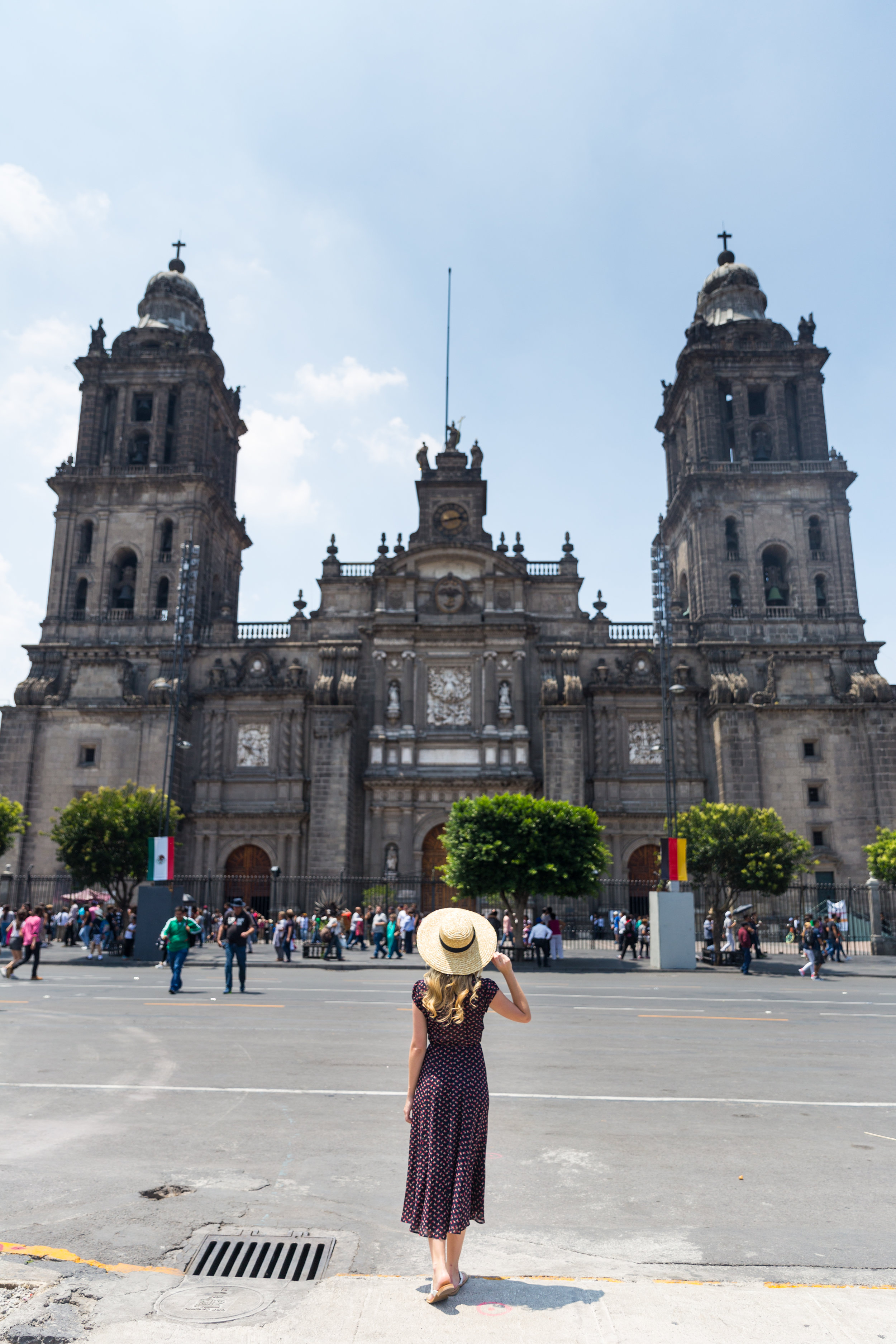 Mexico City Centro Historico Summer Outfit Pattern Wrap Dress_-5.jpg