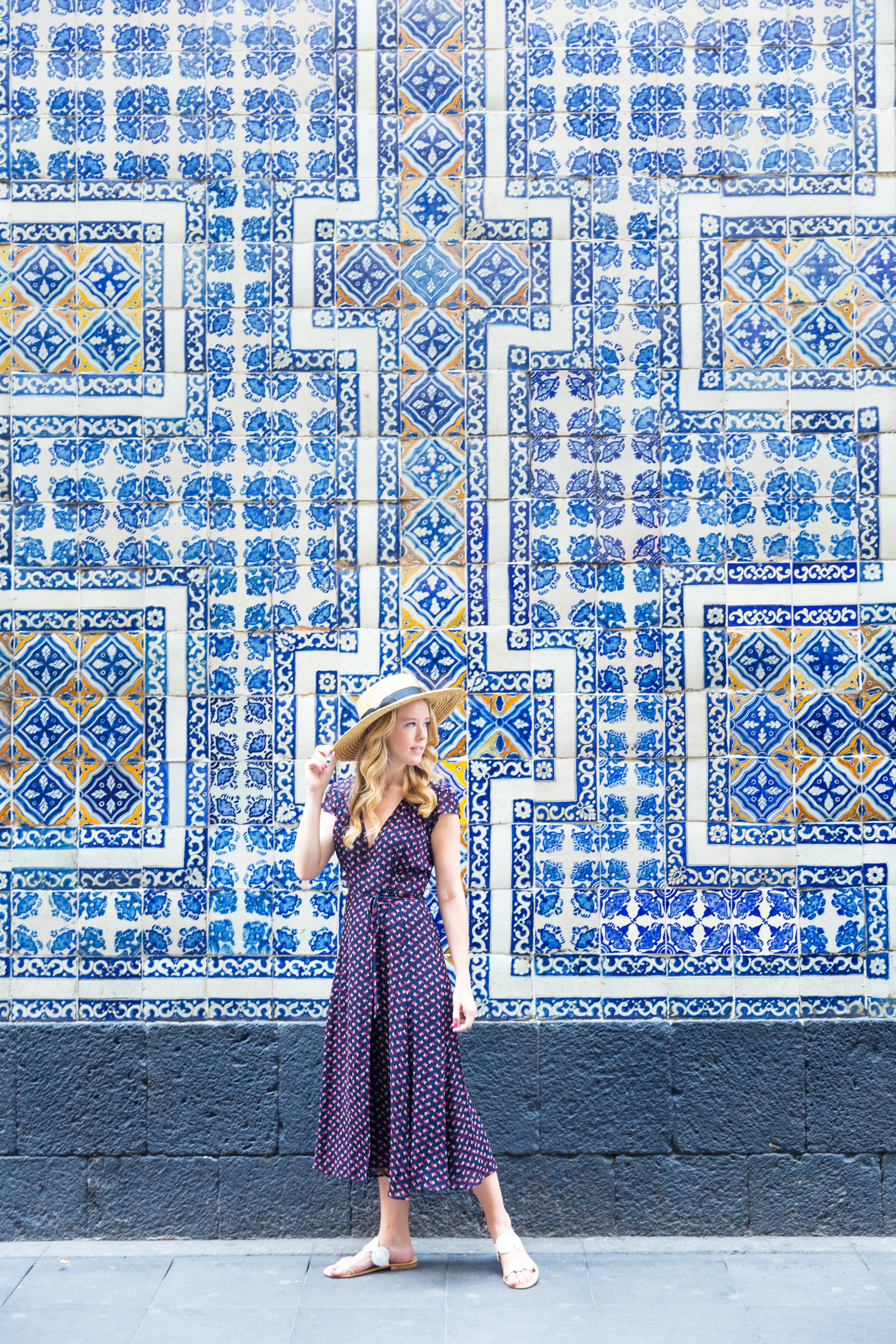 Mexico City Centro Historico Summer Outfit Pattern Wrap Dress_-4.jpg
