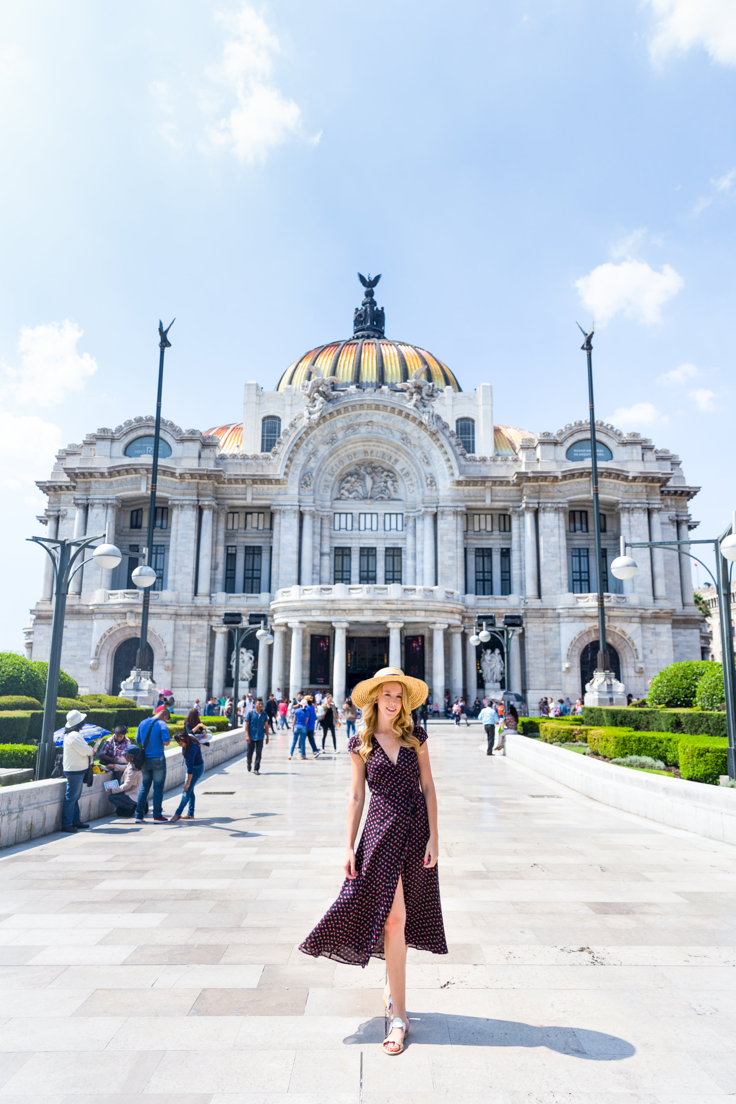 Mexico City Centro Historico Summer Outfit Pattern Wrap Dress_-7.jpg
