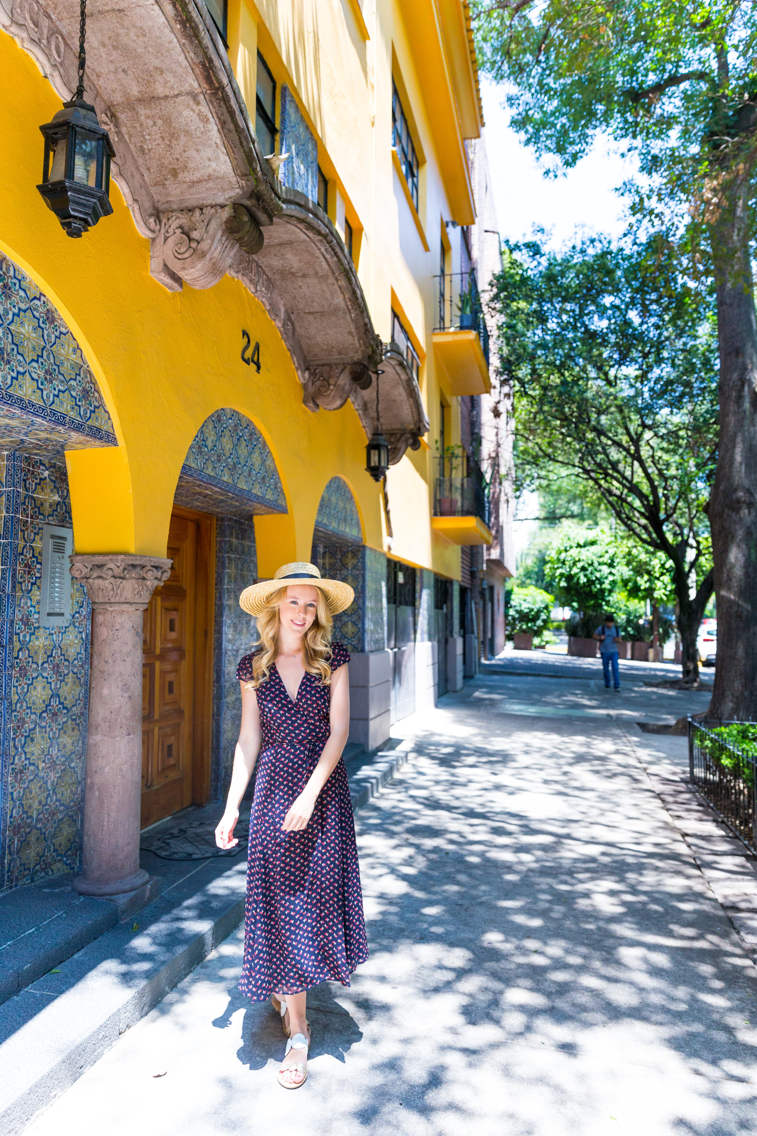 Mexico City Centro Historico Summer Outfit Pattern Wrap Dress_-13.jpg
