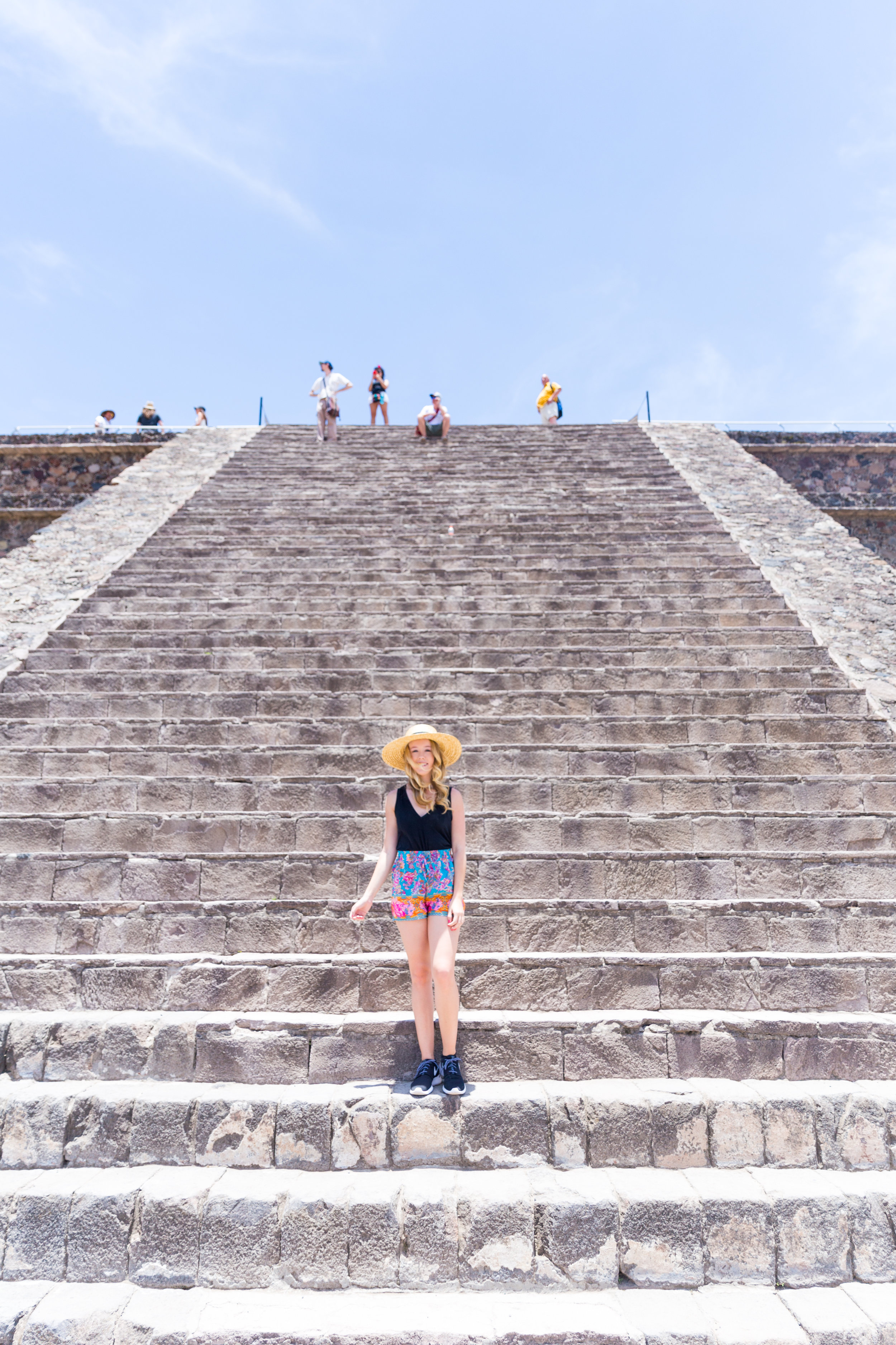 Mexico City Teotihuacan Pyramids Pattern Shorts Casual Summer Outfit-2.jpg