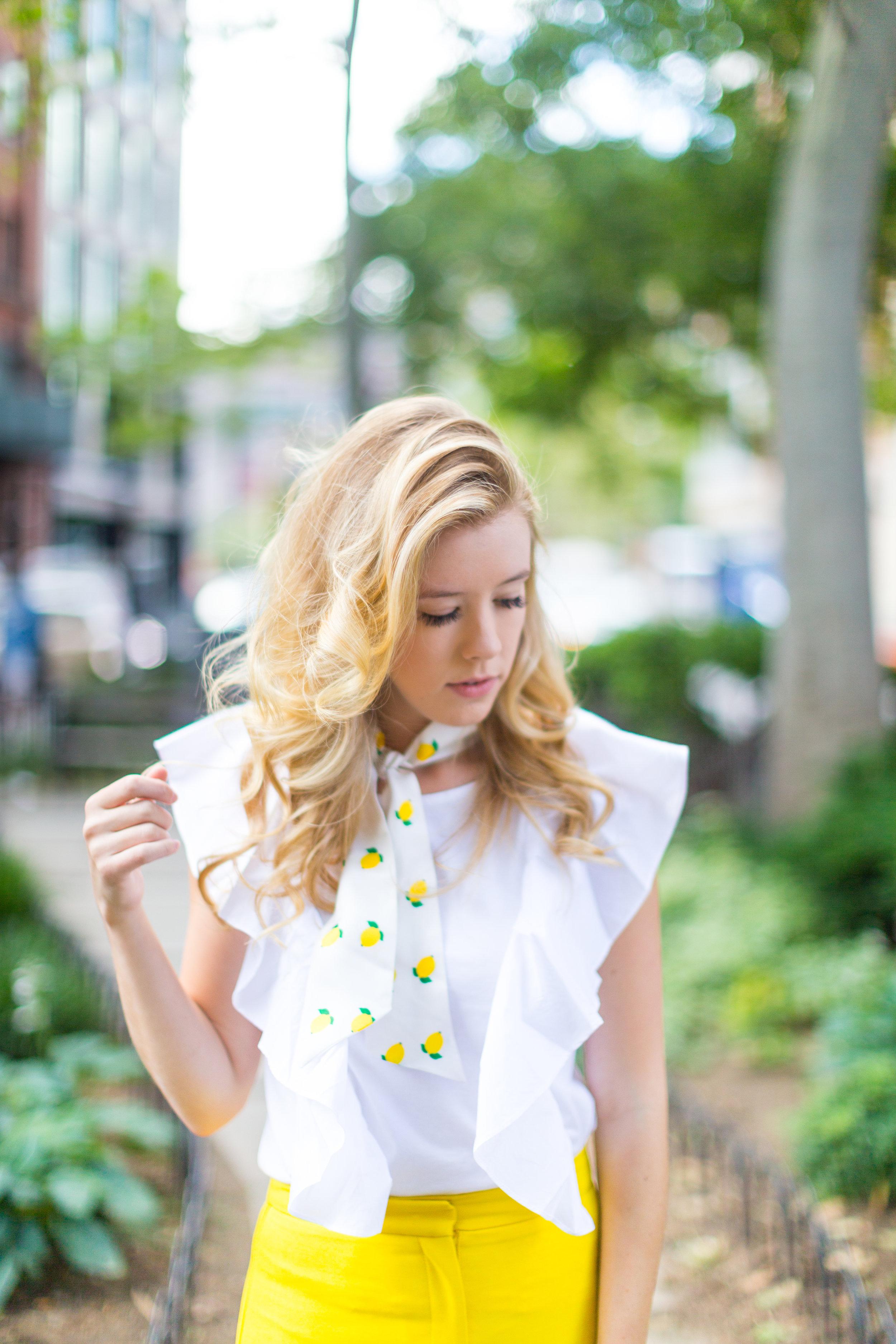 NYC Summer Yellow Lemon Print Outfit-3.jpg