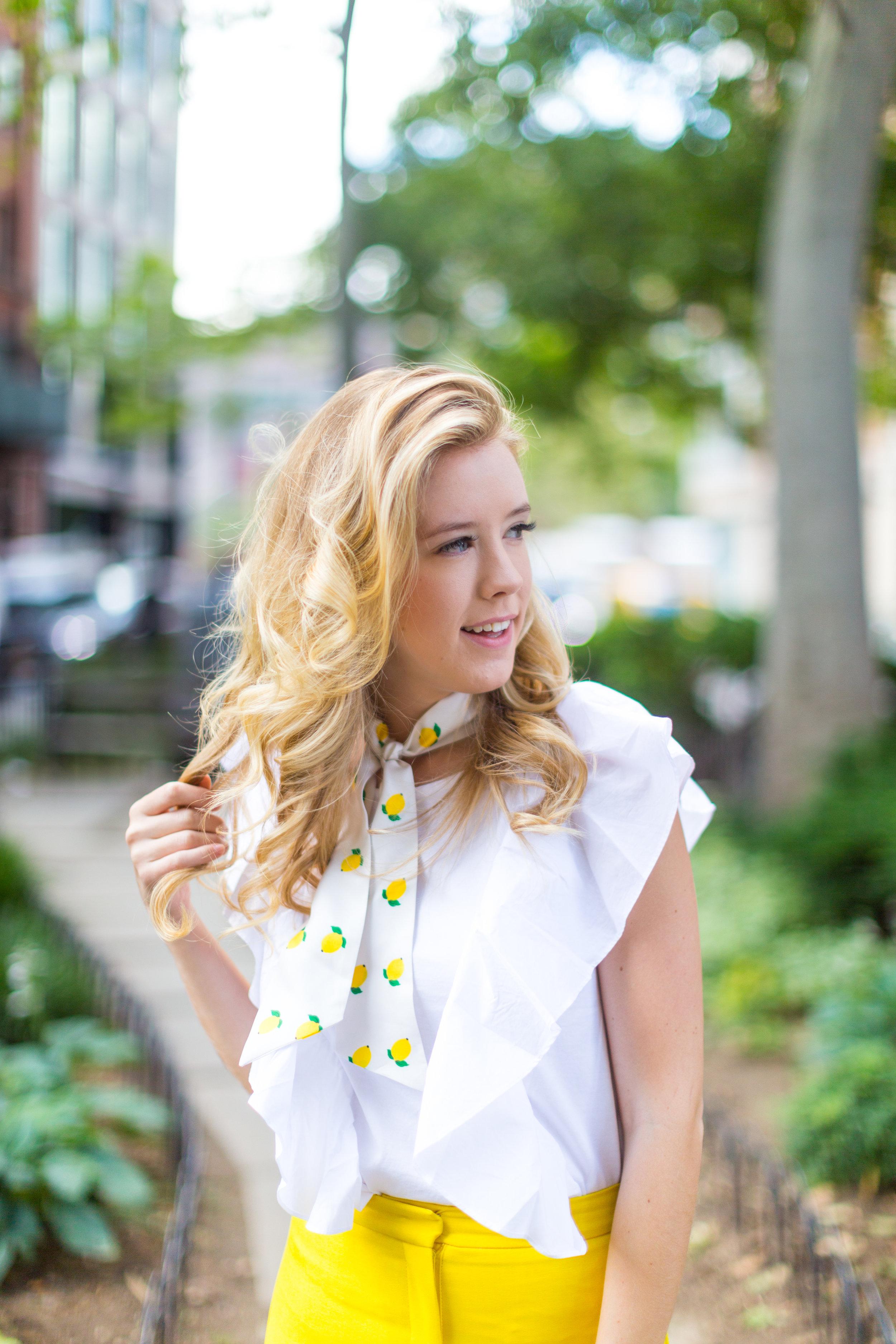 NYC Summer Yellow Lemon Print Outfit-2.jpg