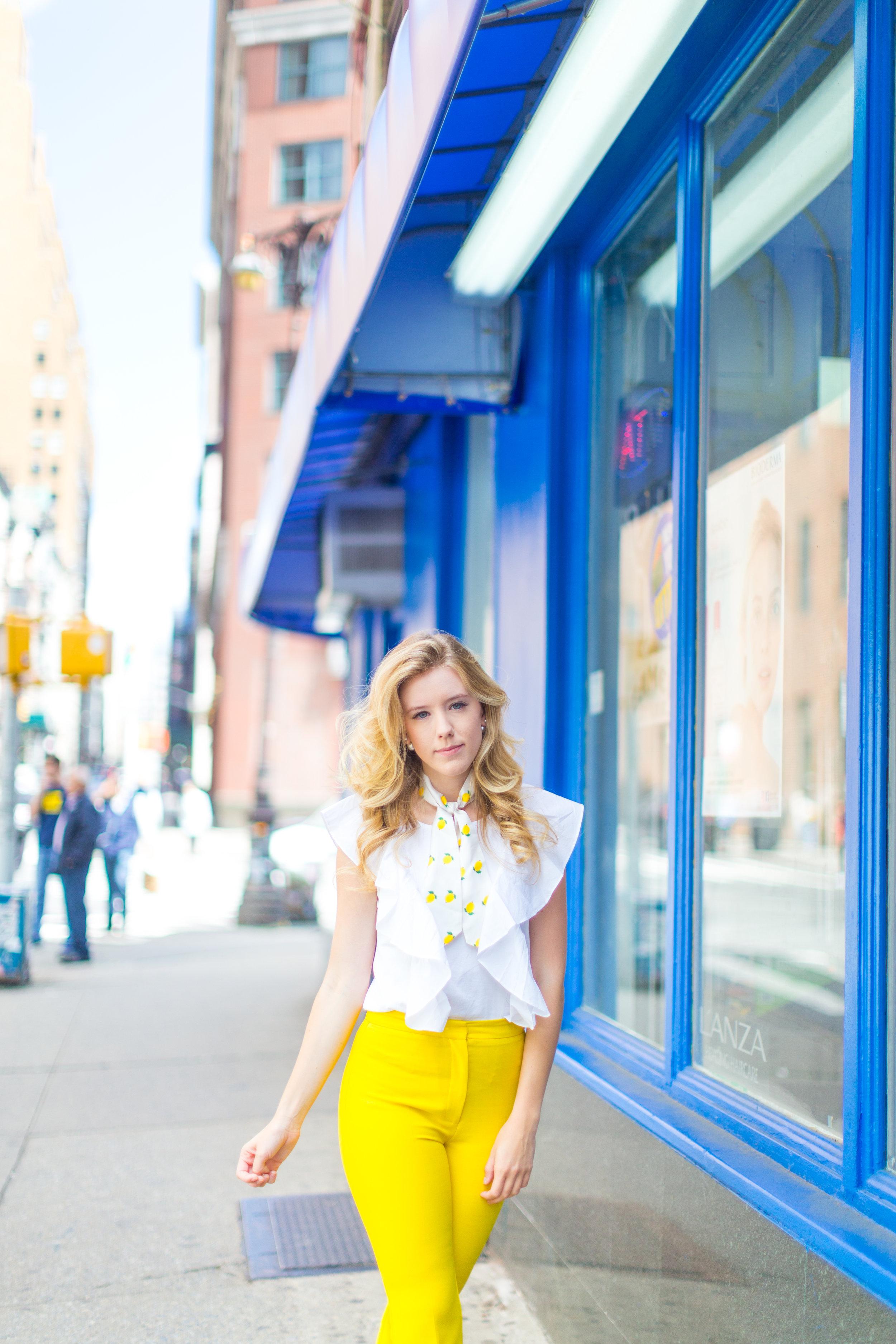 NYC Summer Yellow Lemon Print Outfit-5.jpg