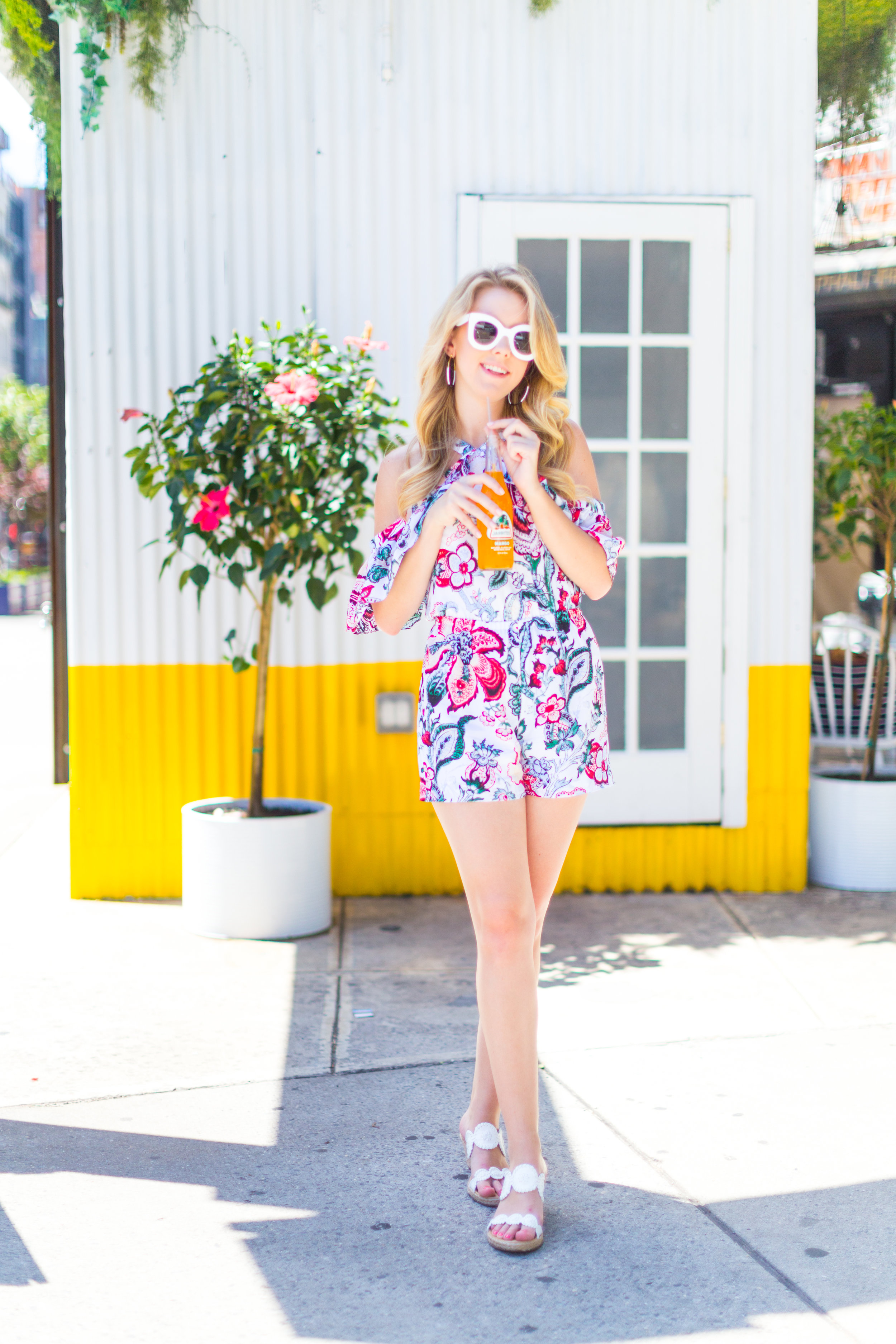 NYC Summer Outfit Floral Ruffled Romper-5.jpg