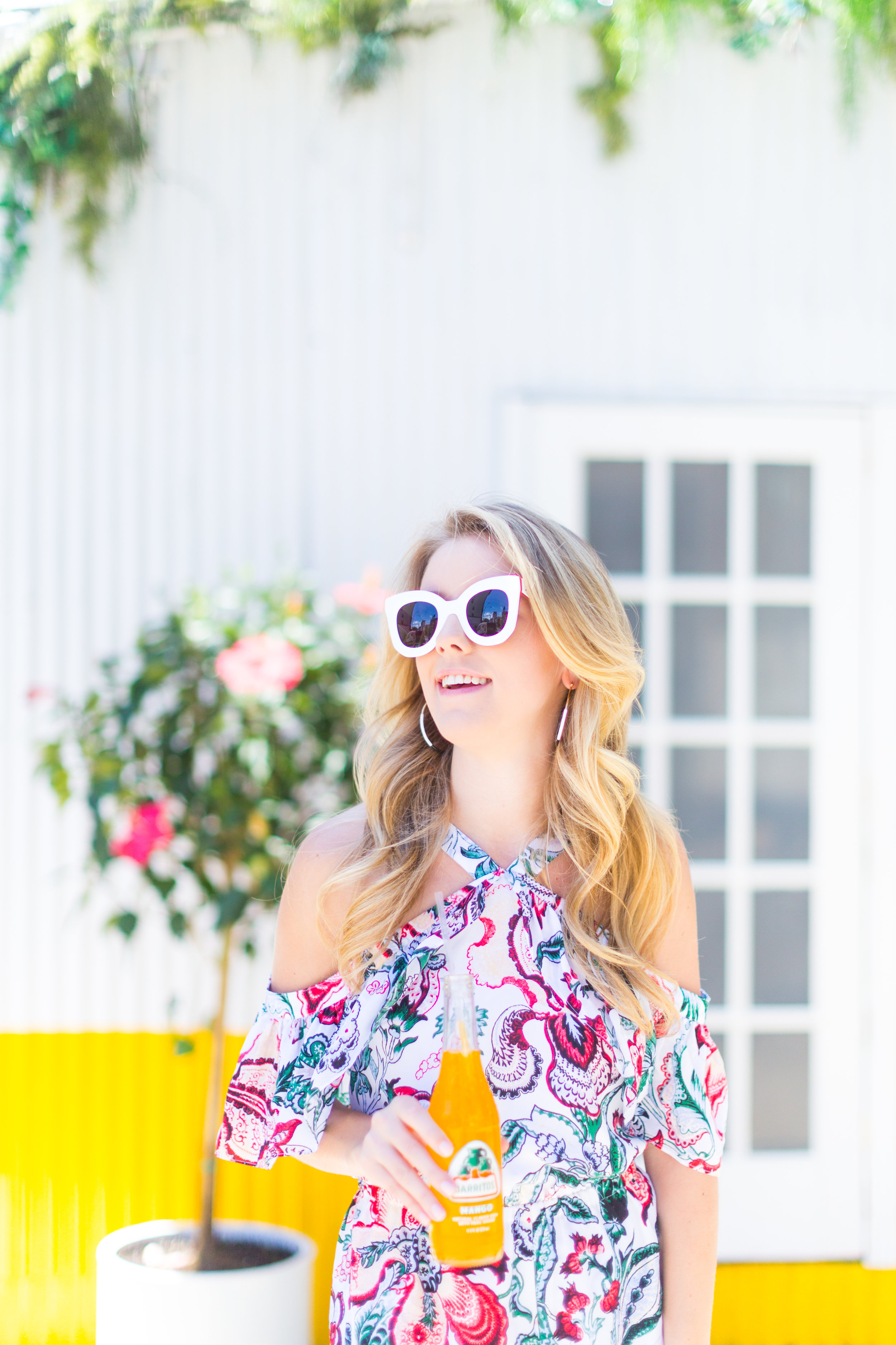 NYC Summer Outfit Floral Ruffled Romper-7.jpg