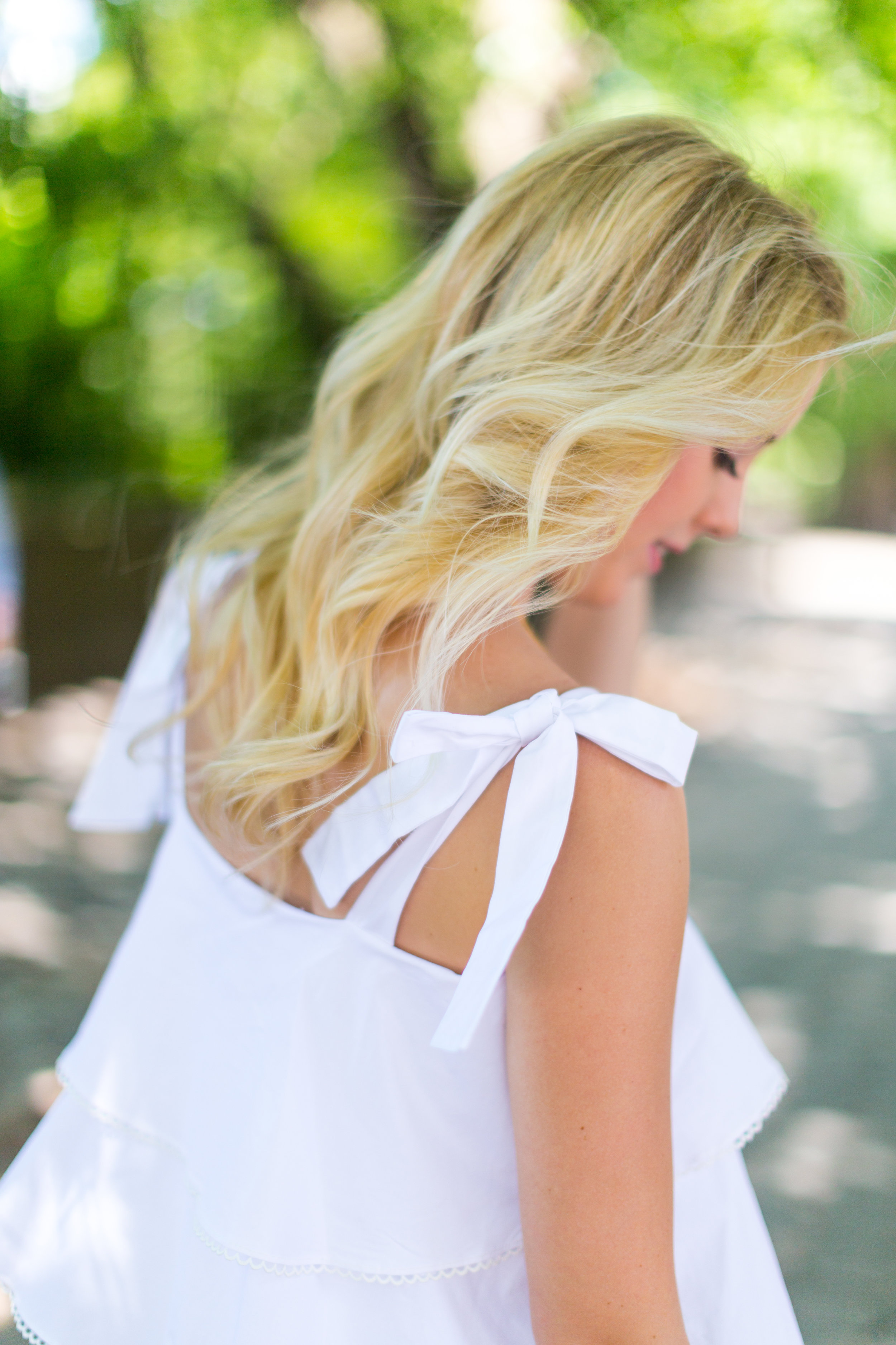 NYC Central Park Summer Fashion White Ruffled Dress-12.jpg