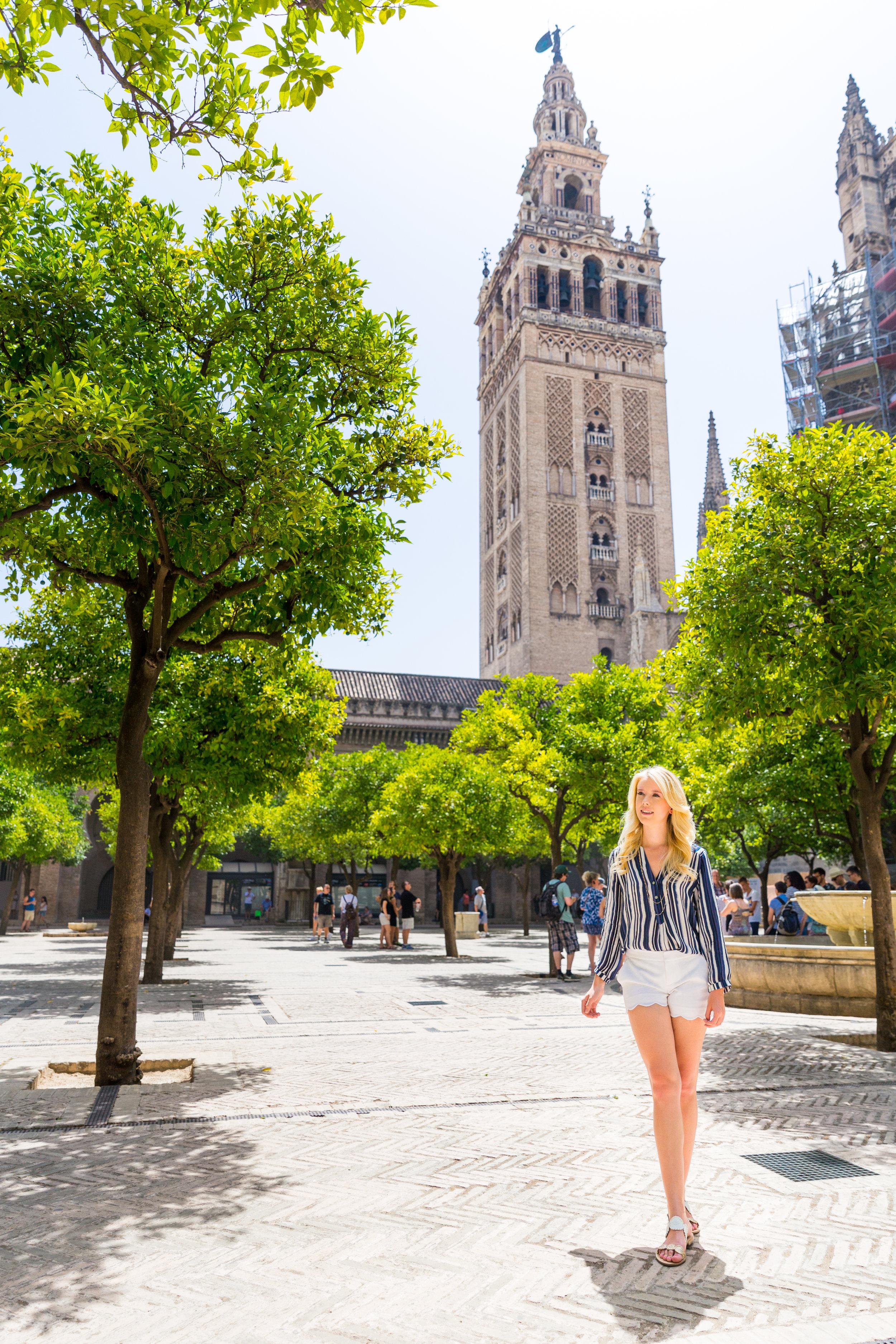 Sevilla Spain Summer Striped Blouse Fashion Style-2.jpg