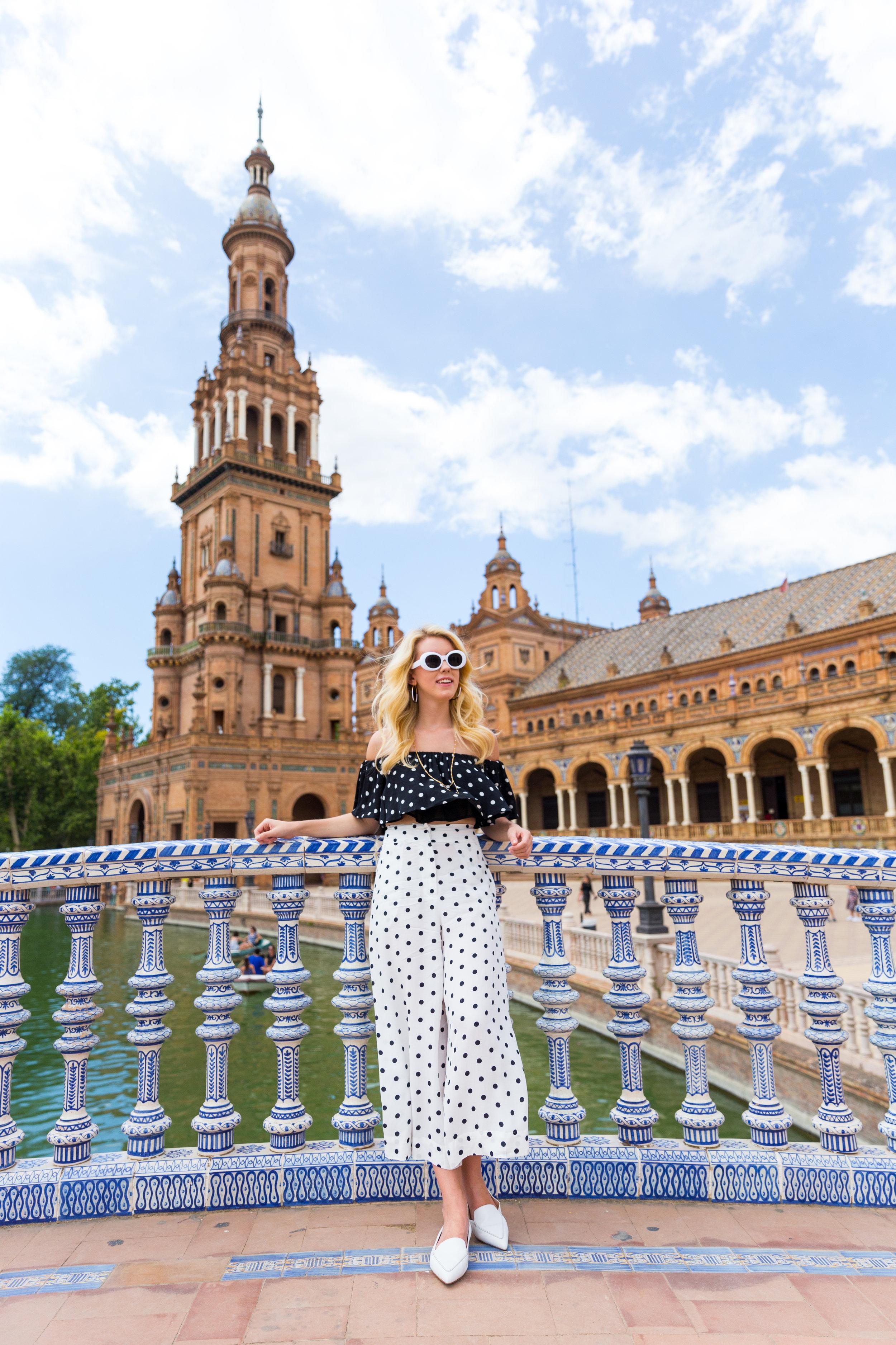 Sevilla Spain Summer Polka Dot Fashion Style.jpg