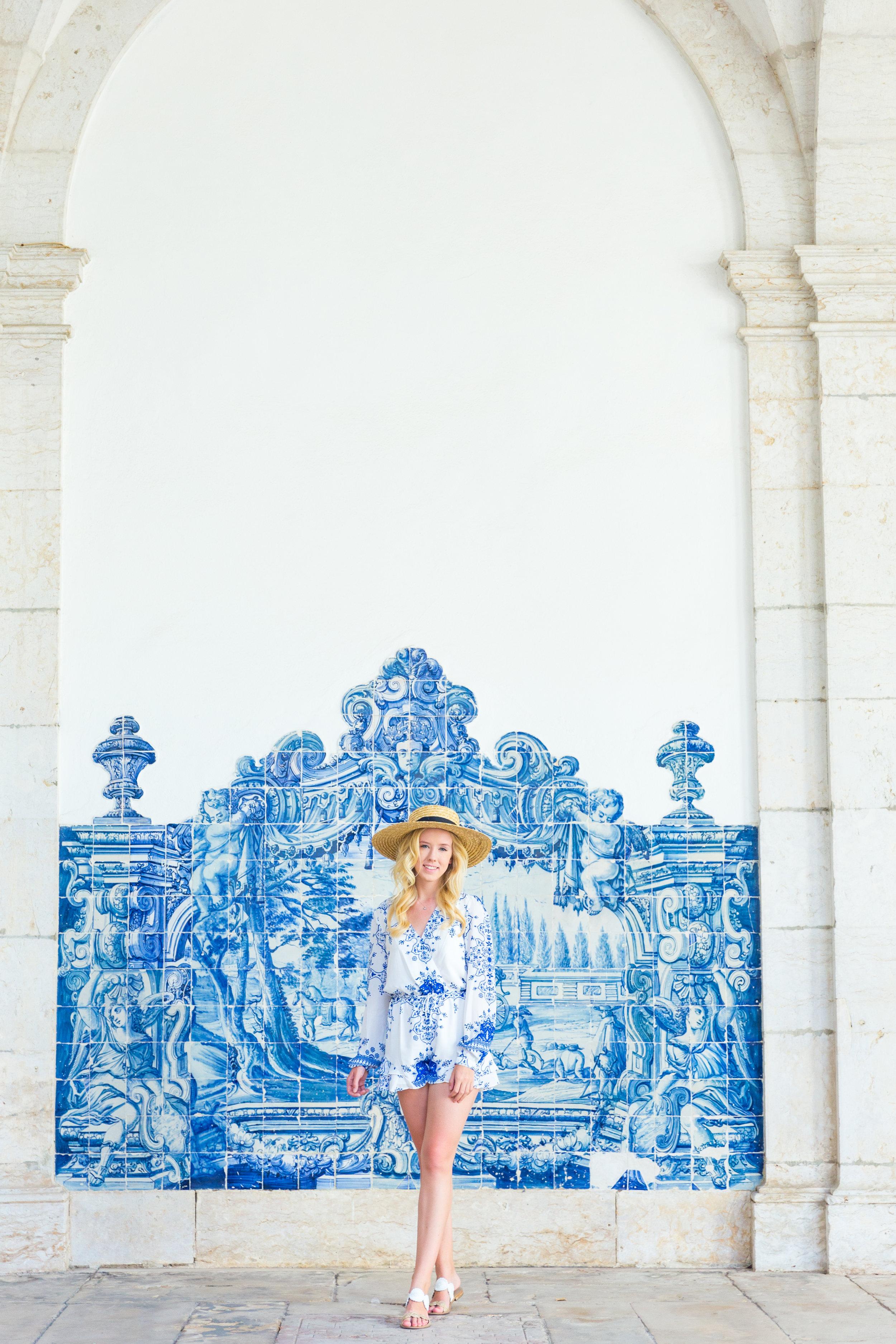 Lisbon Portugal Summer Blue and White Romper Fashion_-3.jpg