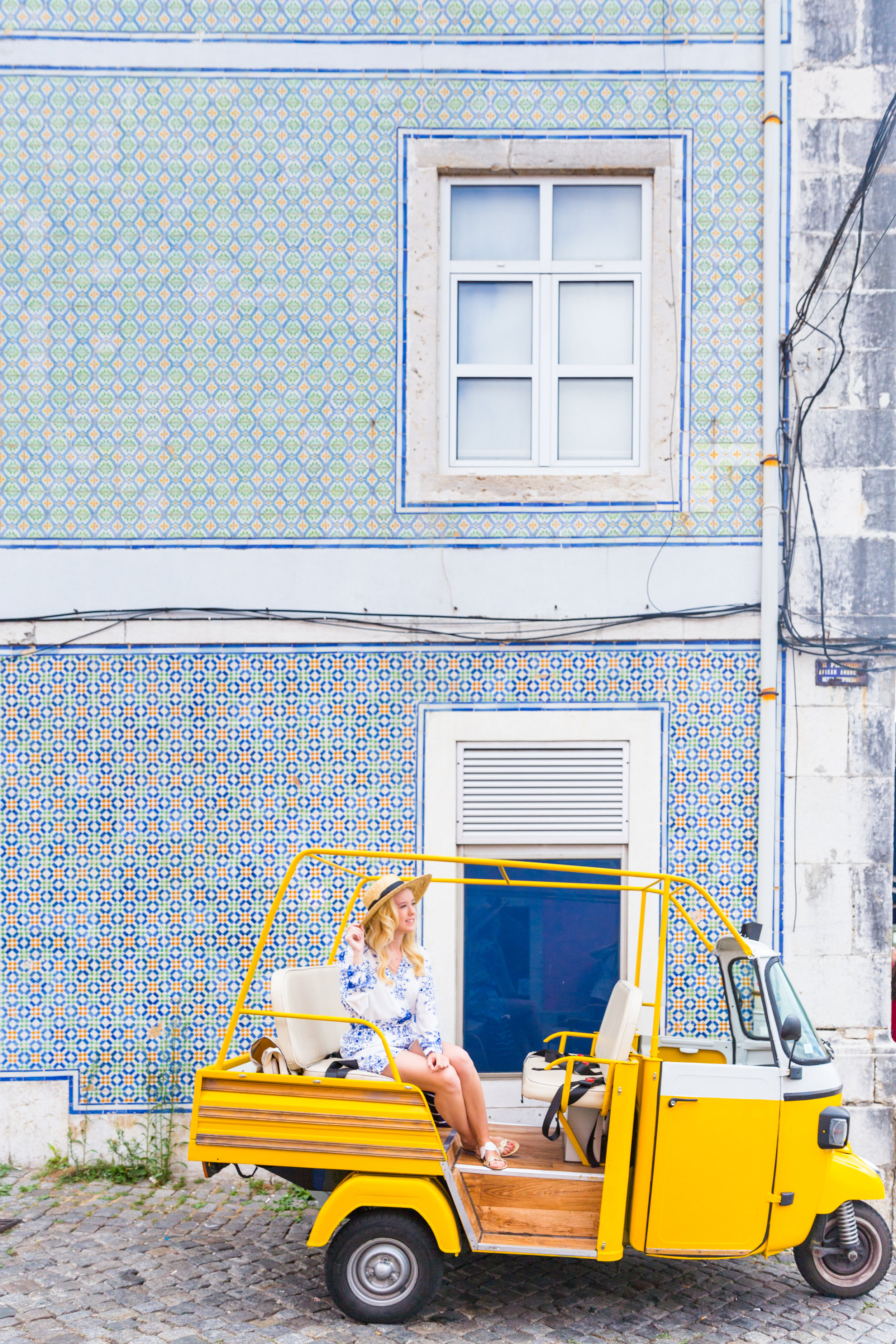 Lisbon Portugal Summer Blue and White Romper Fashion_-2.jpg