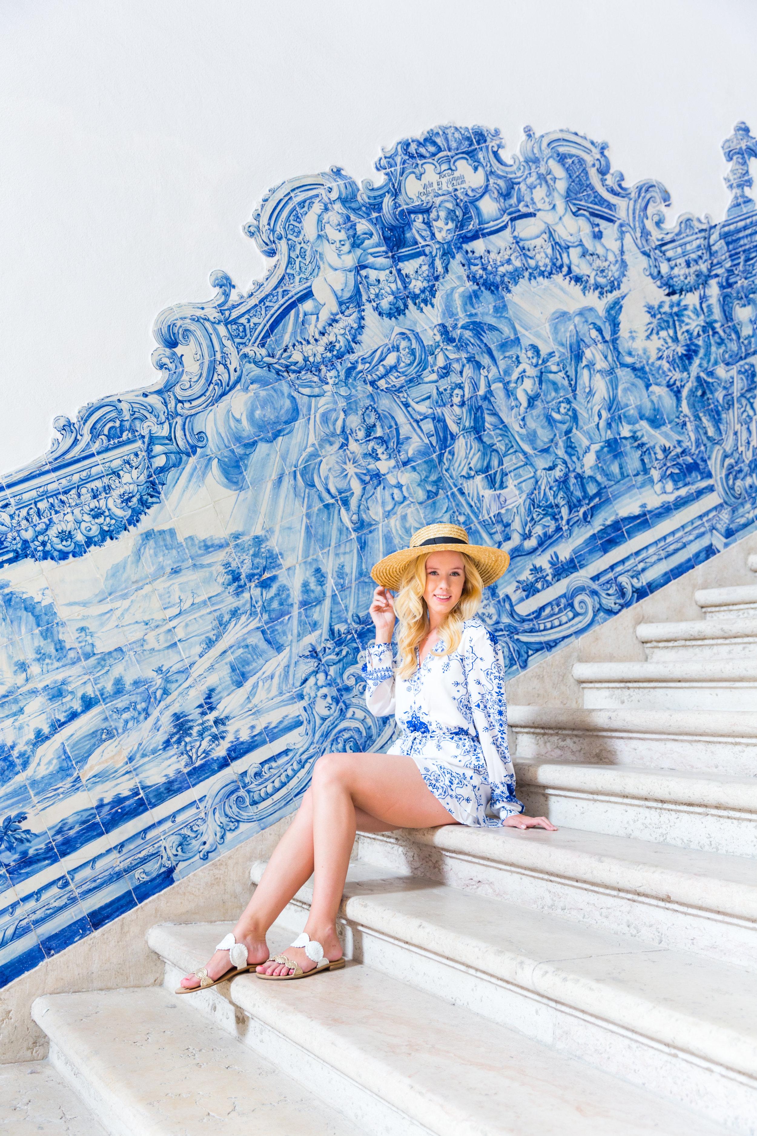 Lisbon Portugal Summer Blue and White Romper Fashion_-4.jpg