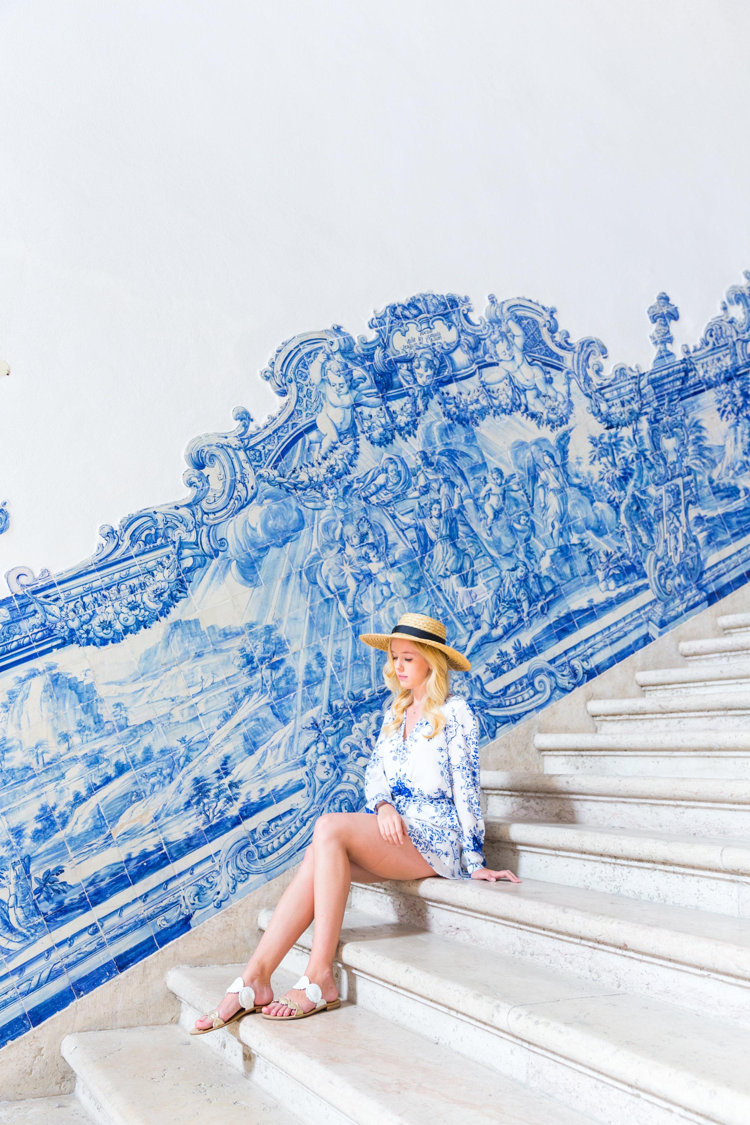 Lisbon Portugal Summer Blue and White Romper Fashion_-5.jpg