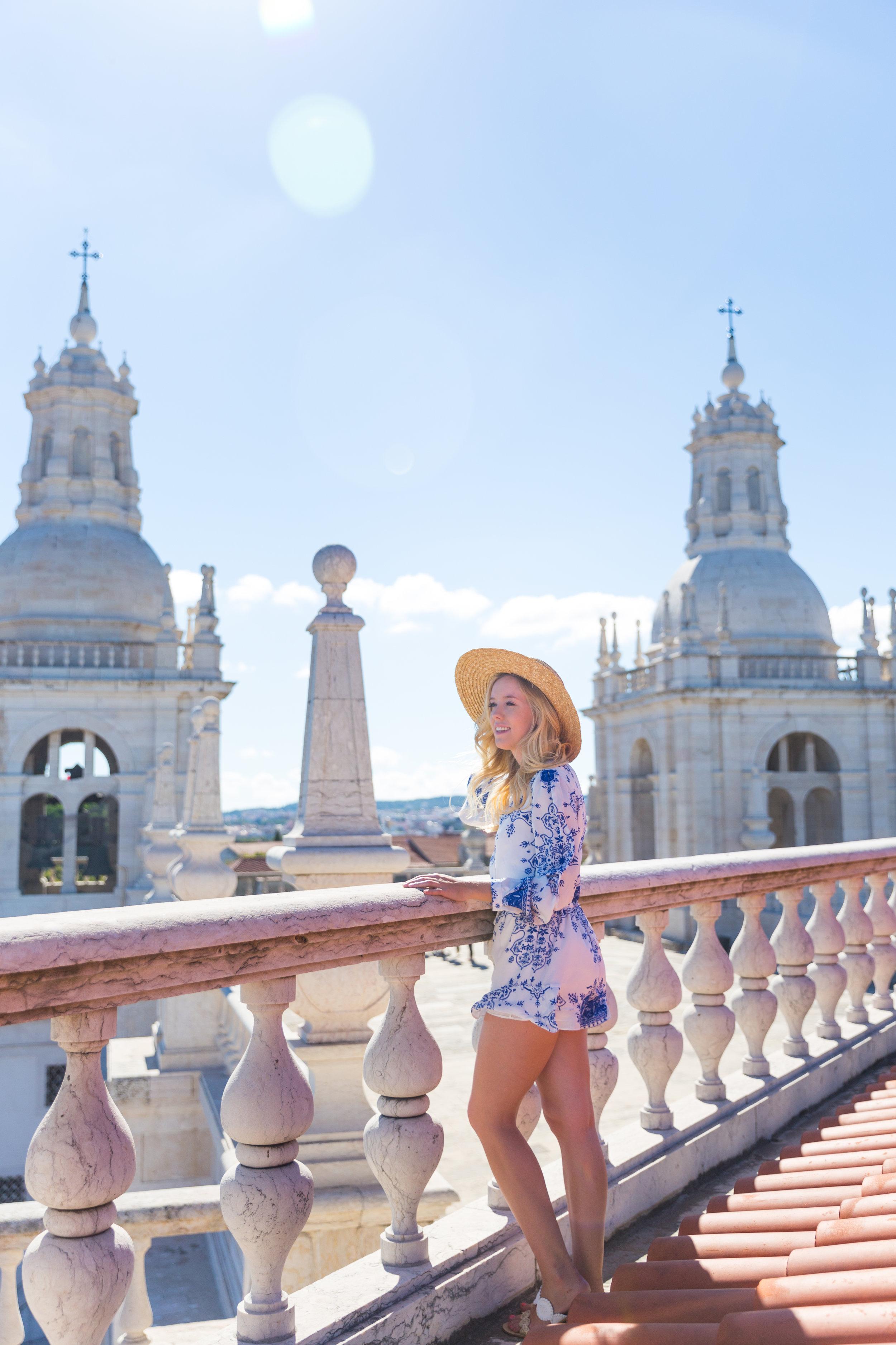 Lisbon Portugal Summer Blue and White Romper Fashion_-6.jpg