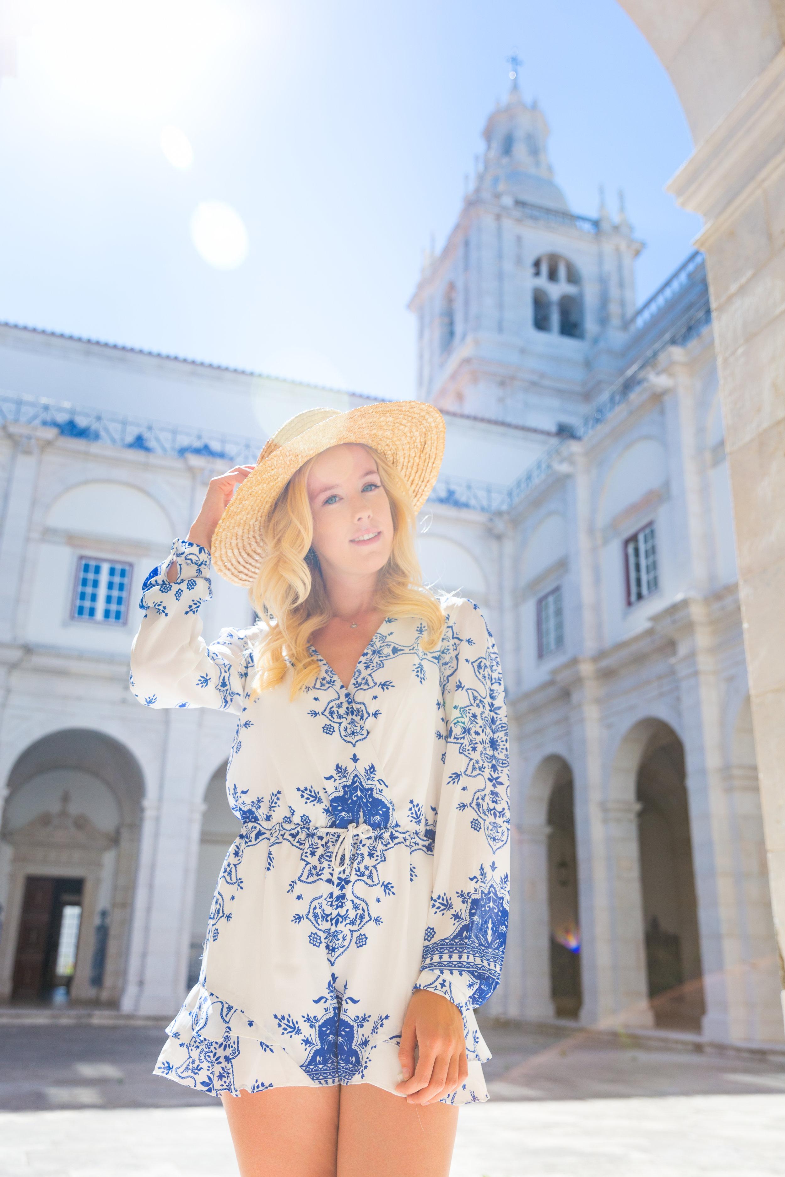 Lisbon Portugal Summer Blue and White Romper Fashion_-7.jpg