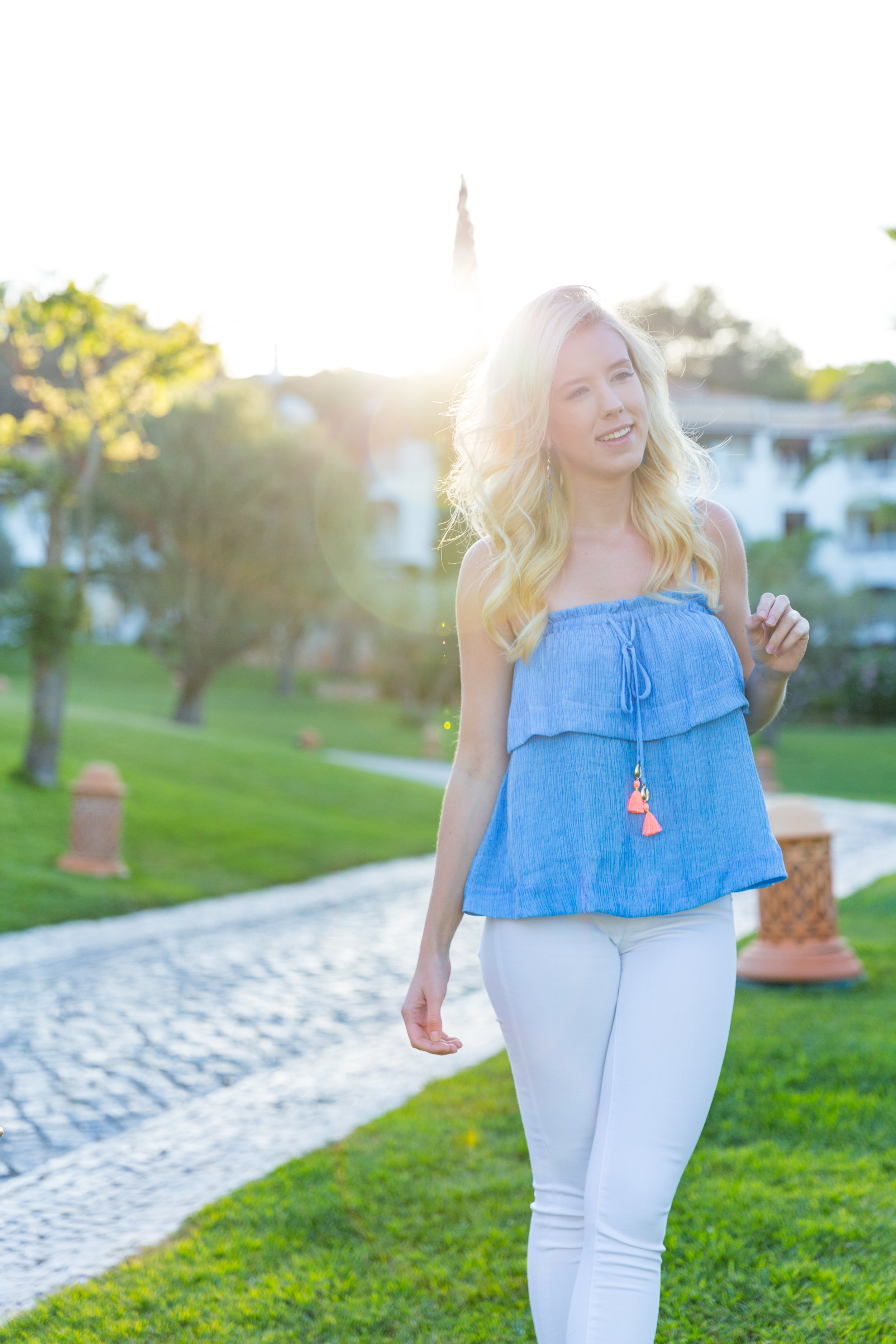 Portugal Algarve Summer Fashion Lilly Pulitzer Top White Jeans-5.jpg