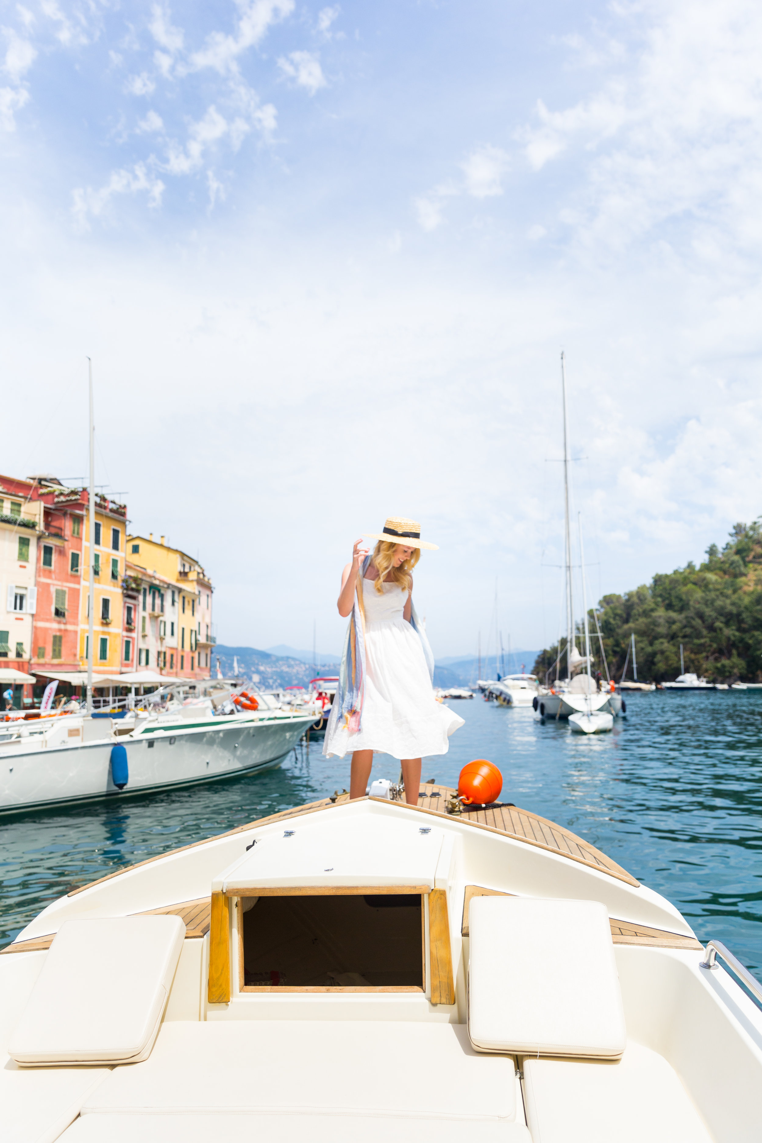 Italy Liguria Portofino Fashion White Sundress.jpg