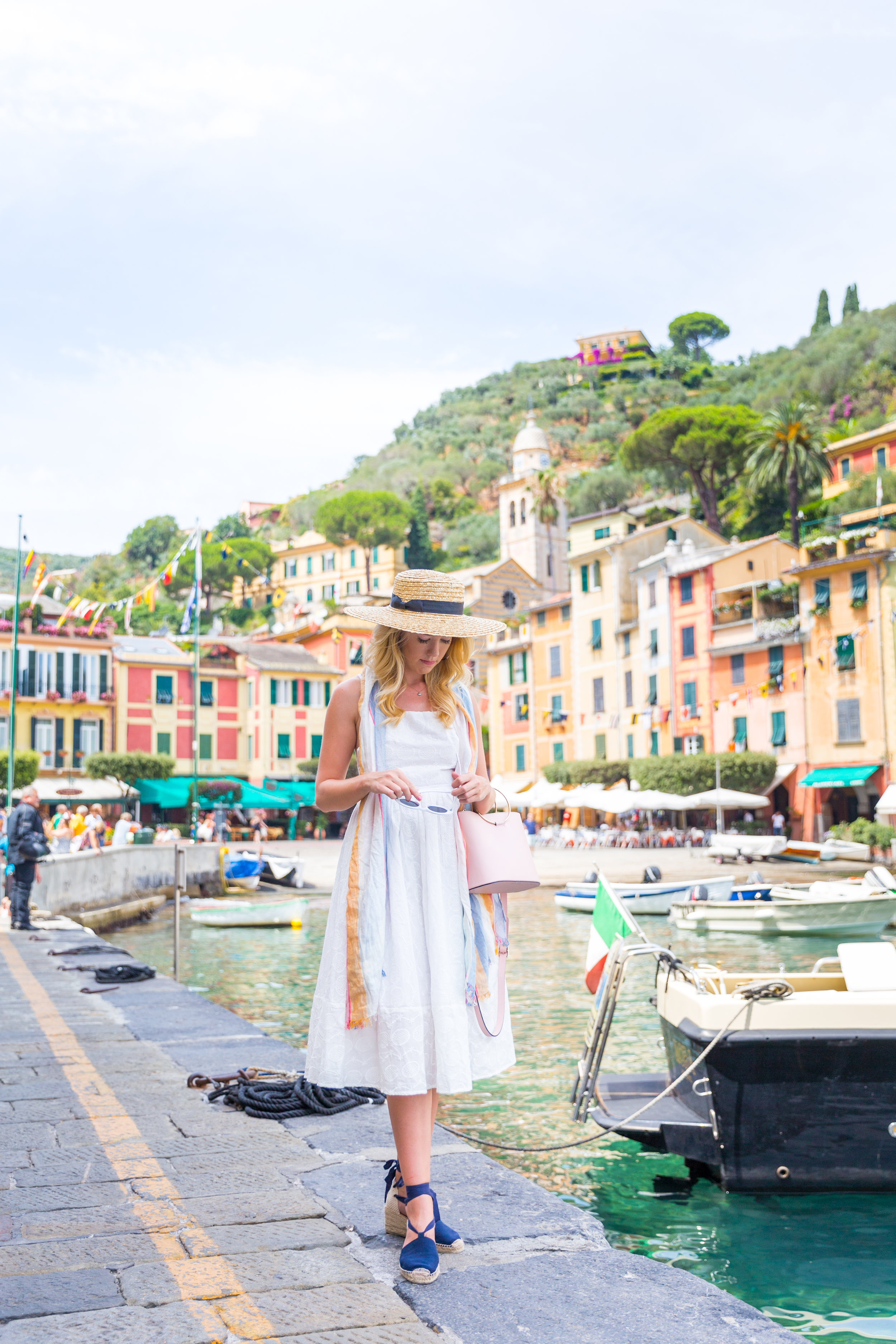 Italy Liguria Portofino Fashion White Sundress-4.jpg