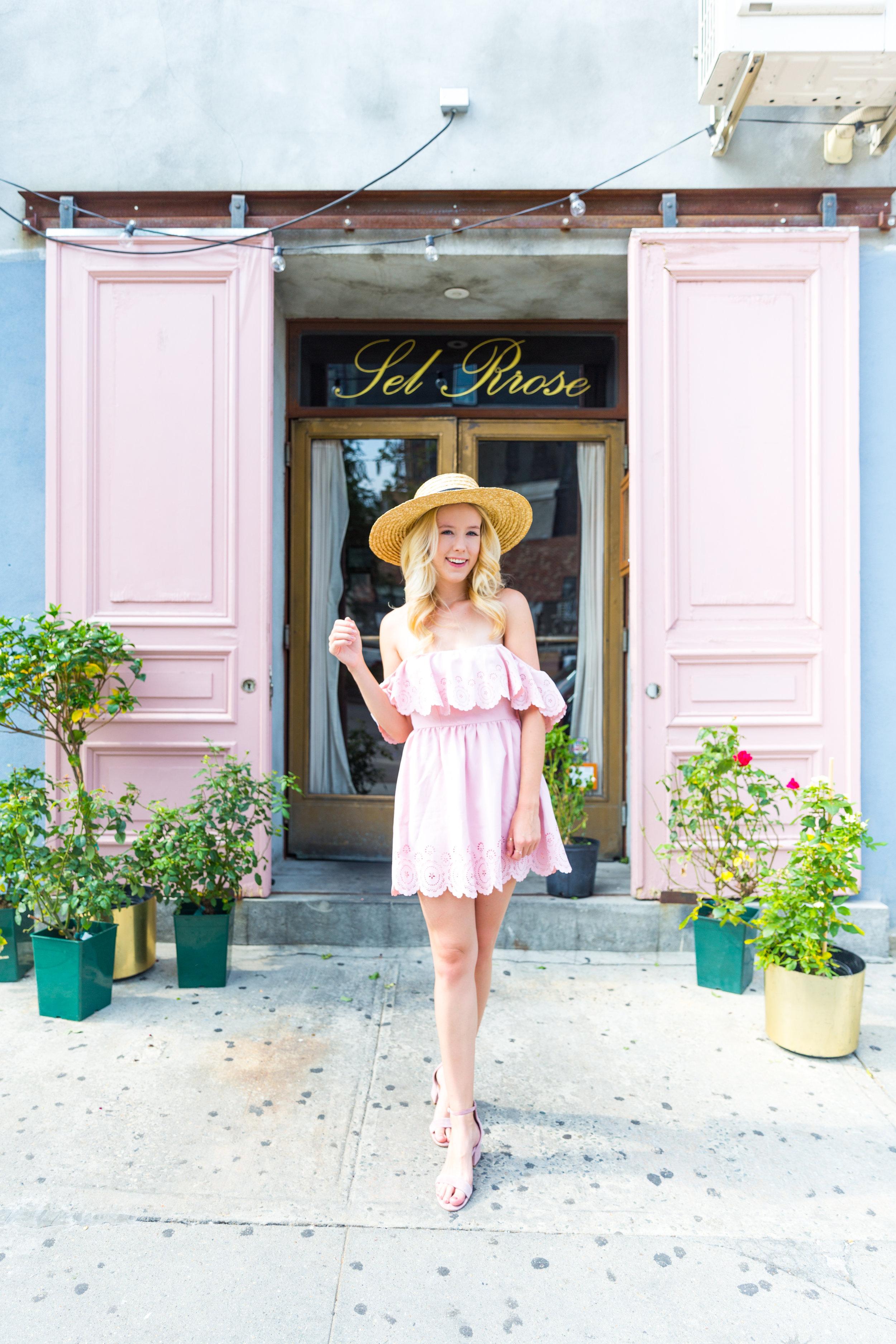 Summer Fashion NYC Pink Off Shoulder Lace Dress-3.jpg
