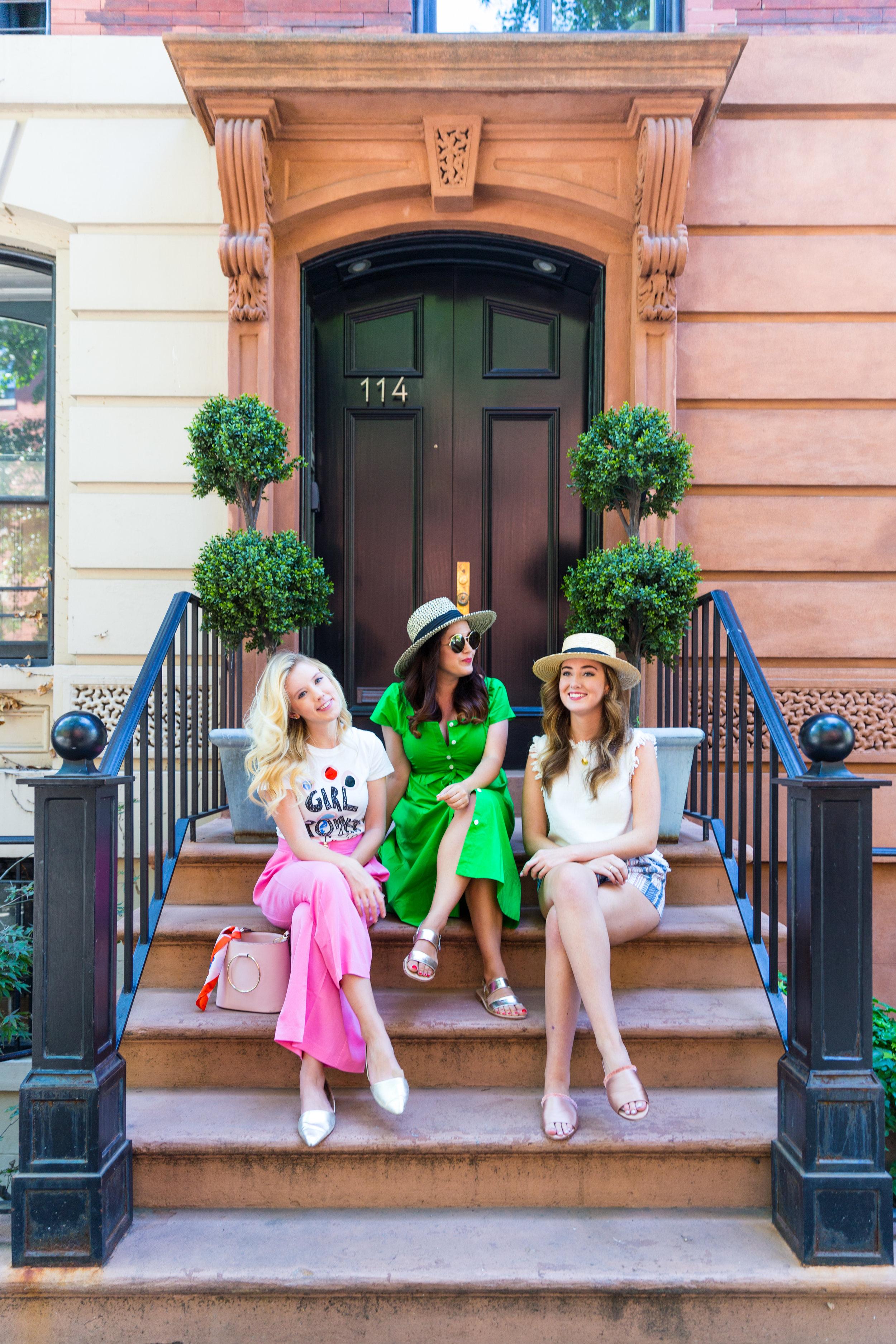 Summer Ethical Fashion NYC Pink Pants Girl Power Shirt-2.jpg