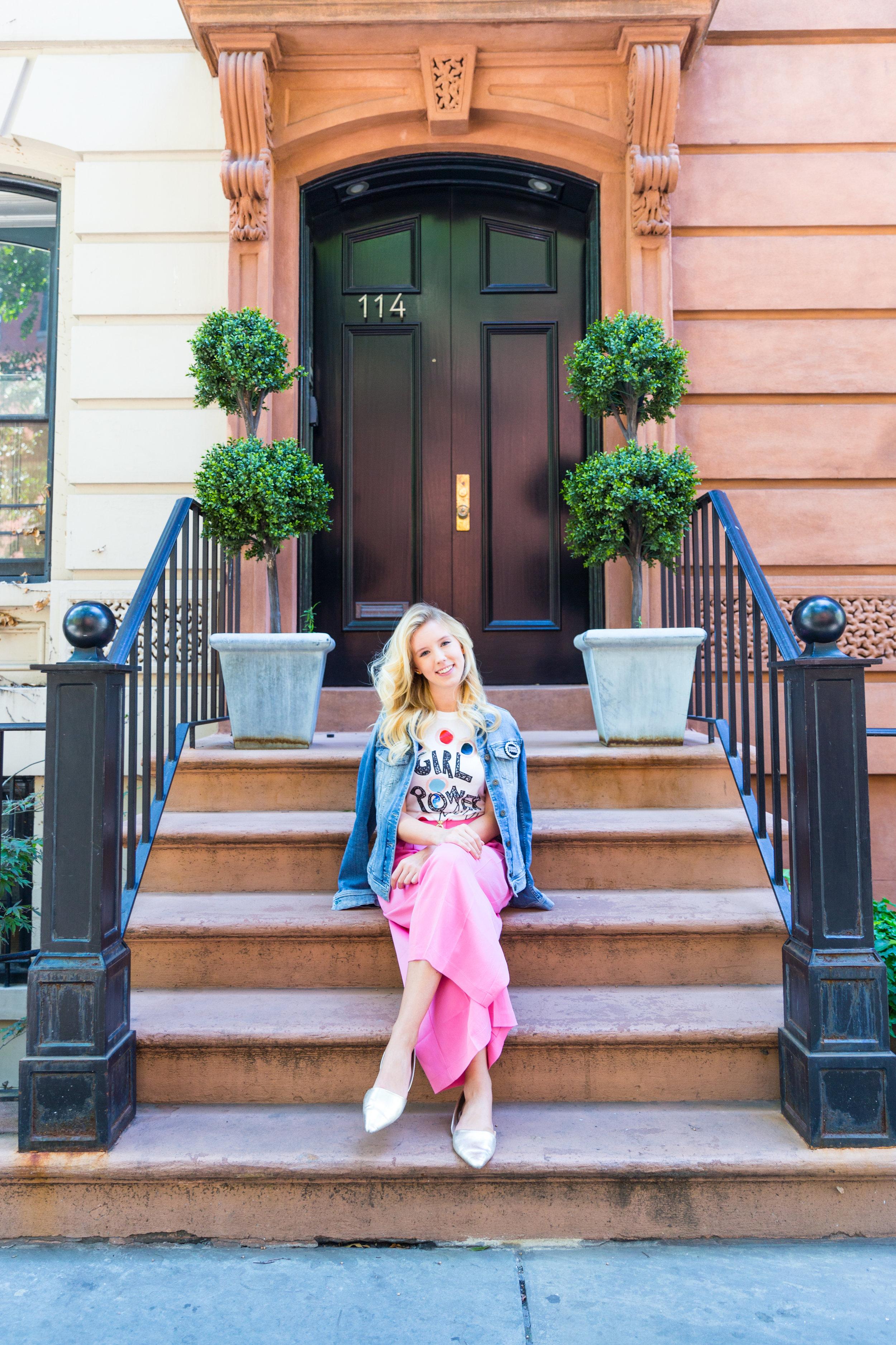 Summer Ethical Fashion NYC Pink Pants Girl Power Shirt-6.jpg