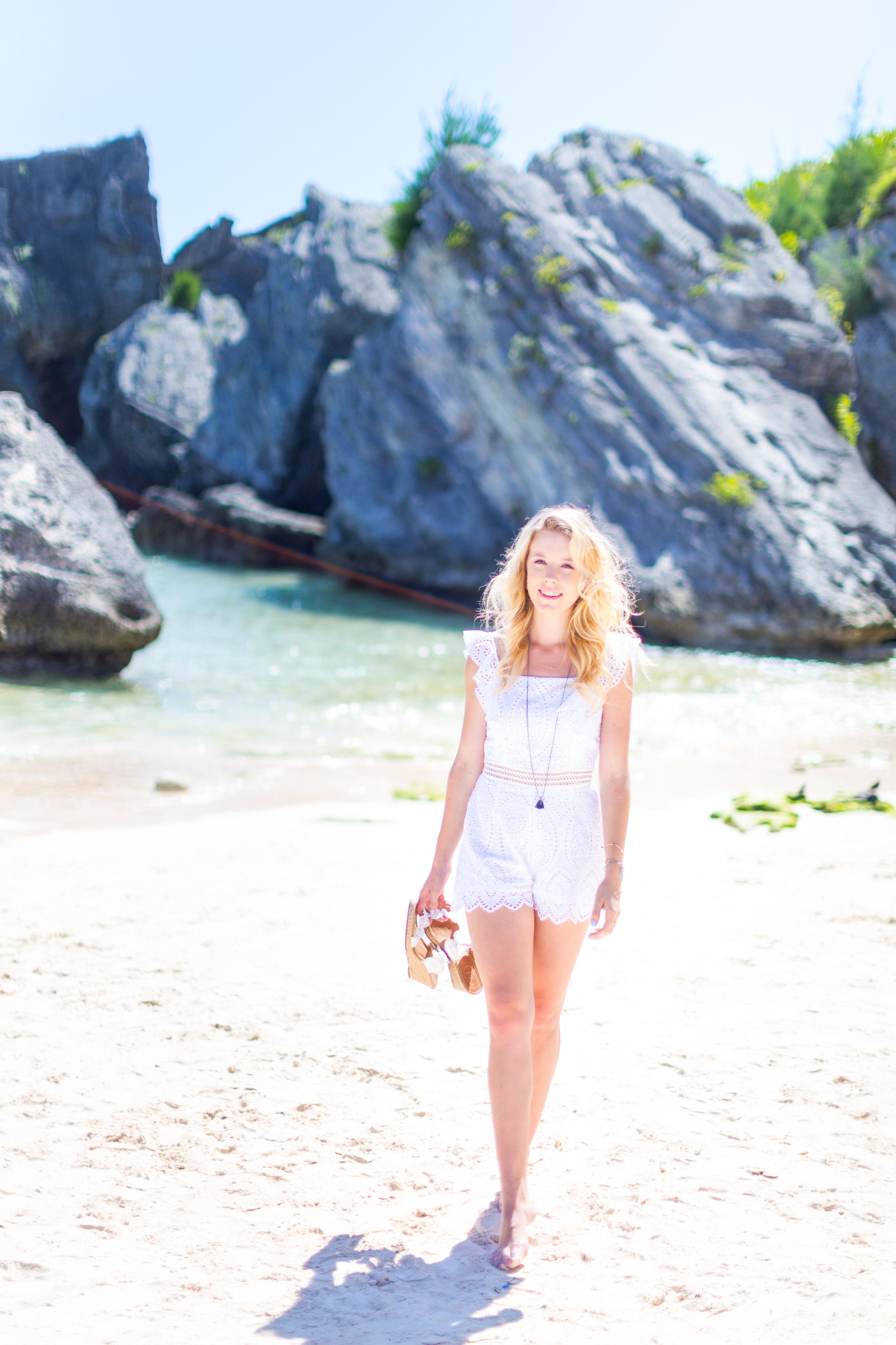 Summer Labor Day Fashion White Lace Romper Bermuda-5.jpg