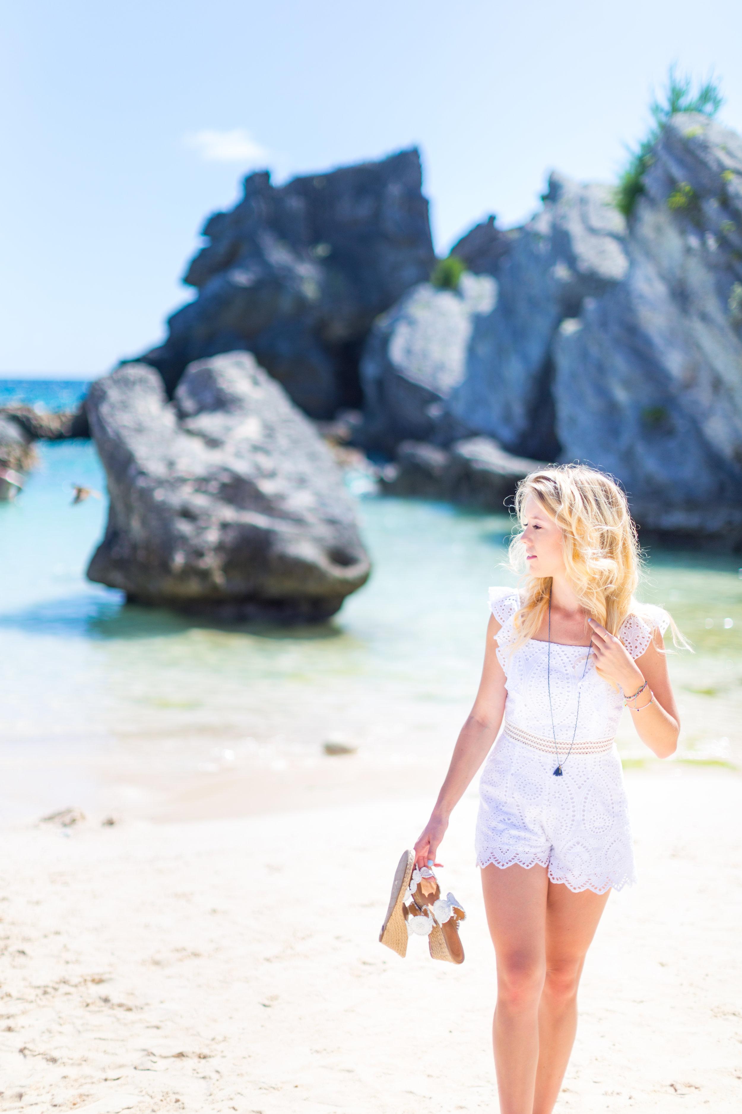 Summer Labor Day Fashion White Lace Romper Bermuda-6.jpg