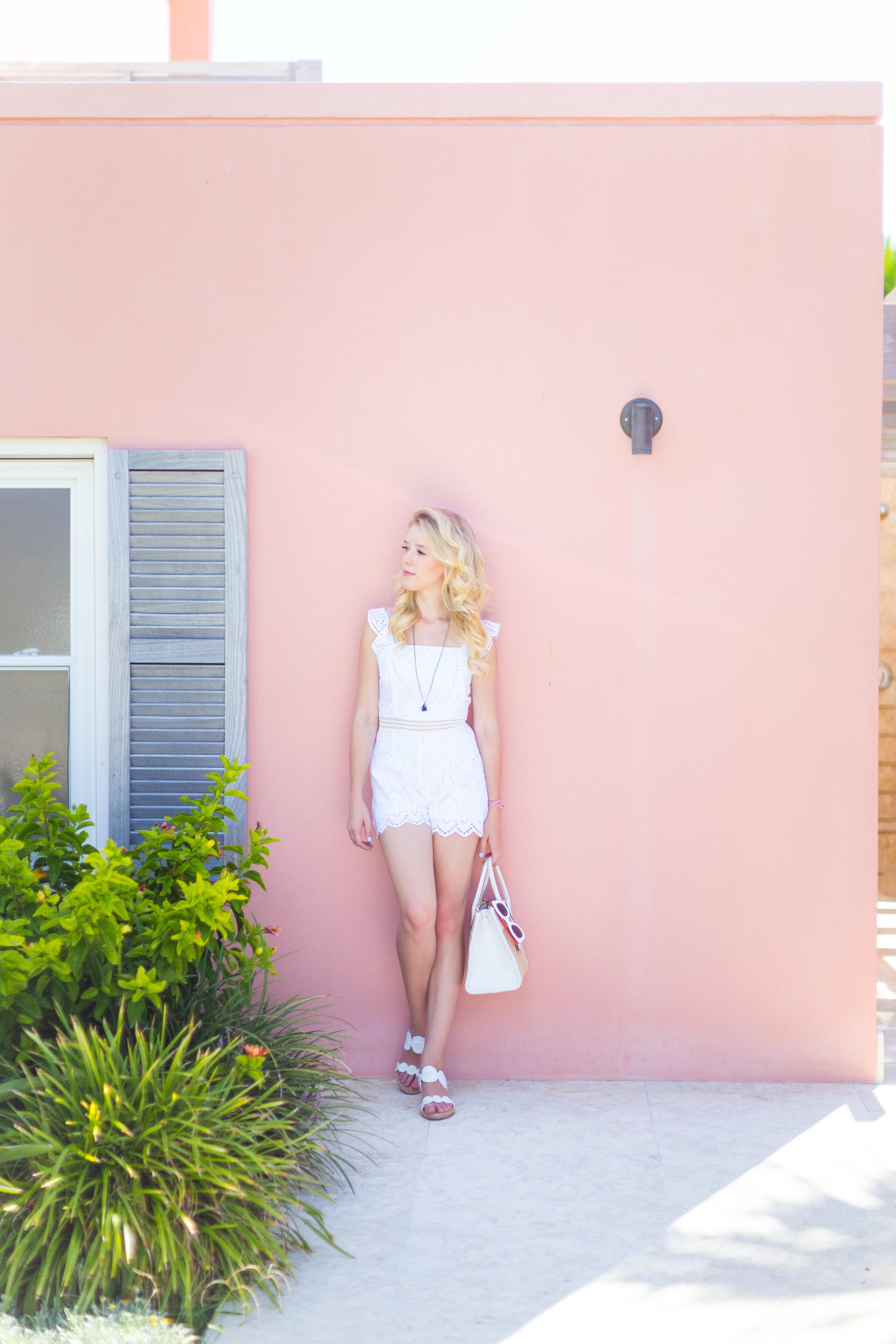 Summer Labor Day Fashion White Lace Romper Bermuda.jpg