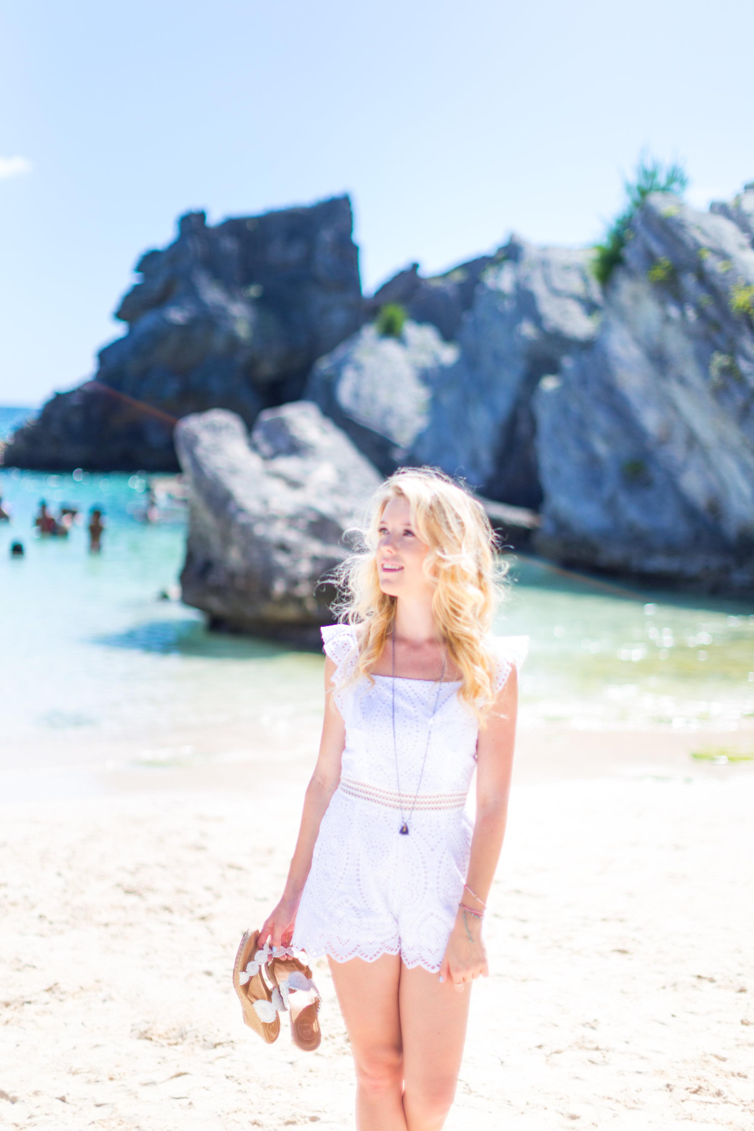 Summer Labor Day Fashion White Lace Romper Bermuda-12.jpg