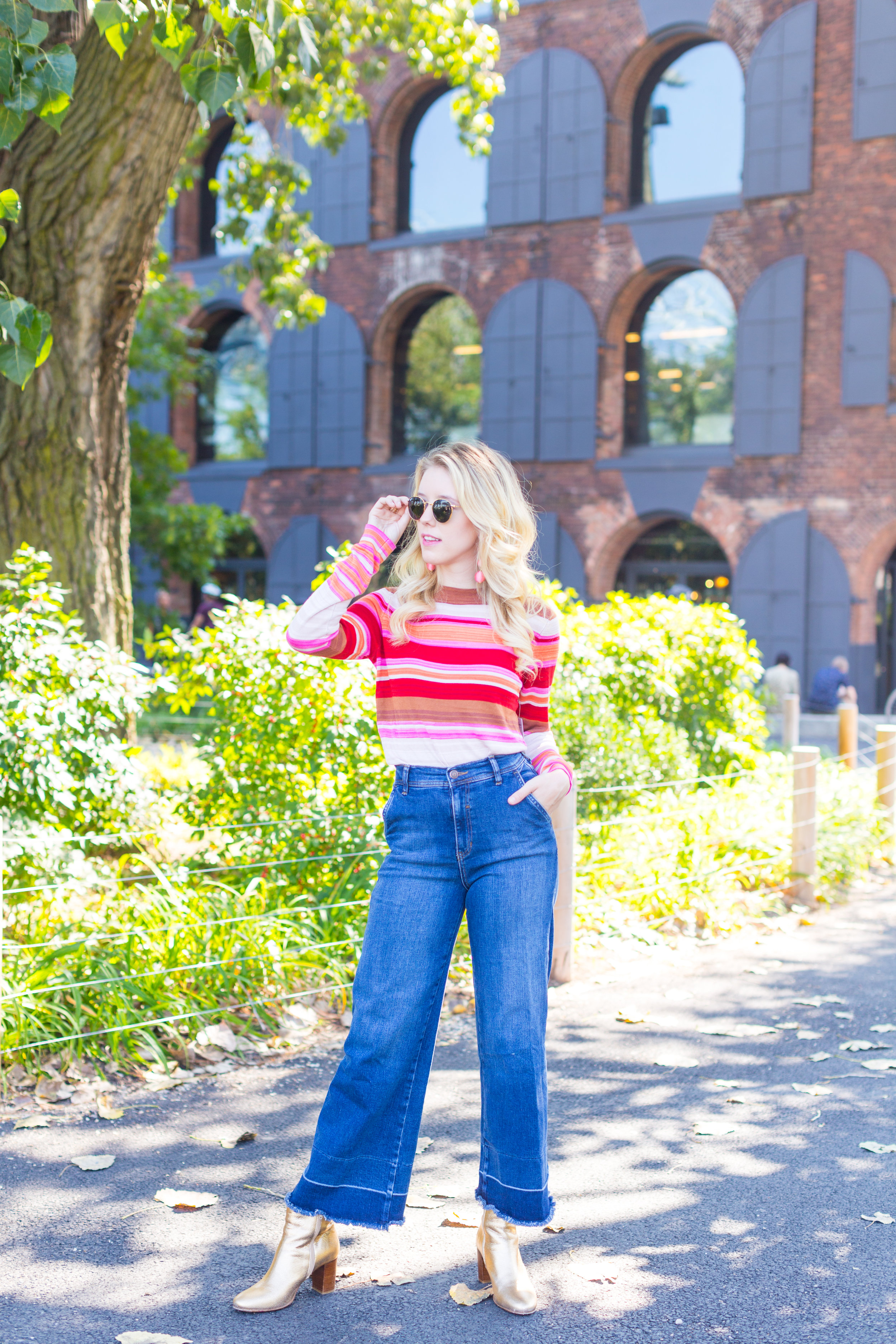 Fall Fashion Retro Striped Sweater and Wide Leg Jeans-8.jpg