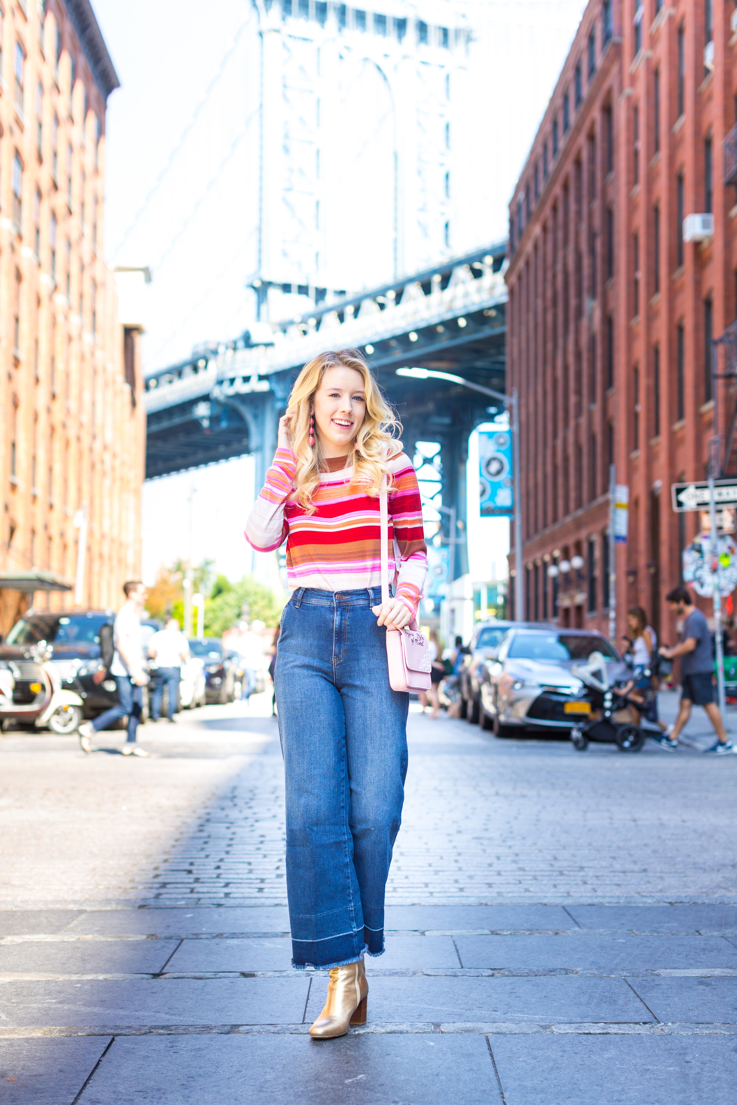 Fall Fashion Retro Striped Sweater and Wide Leg Jeans-11.jpg