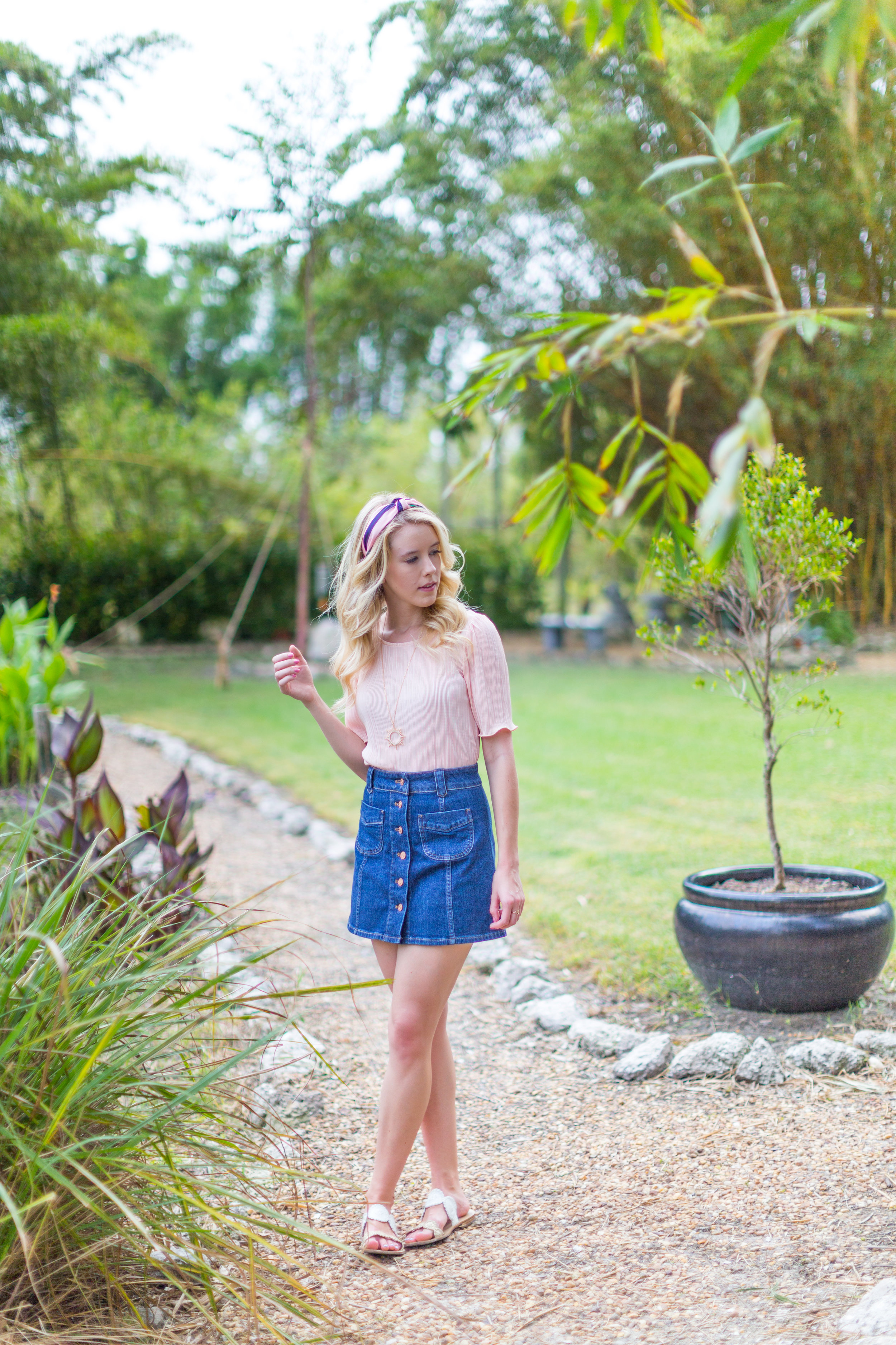 Preppy Fall Fashion Florida Denim Skirt-5.jpg