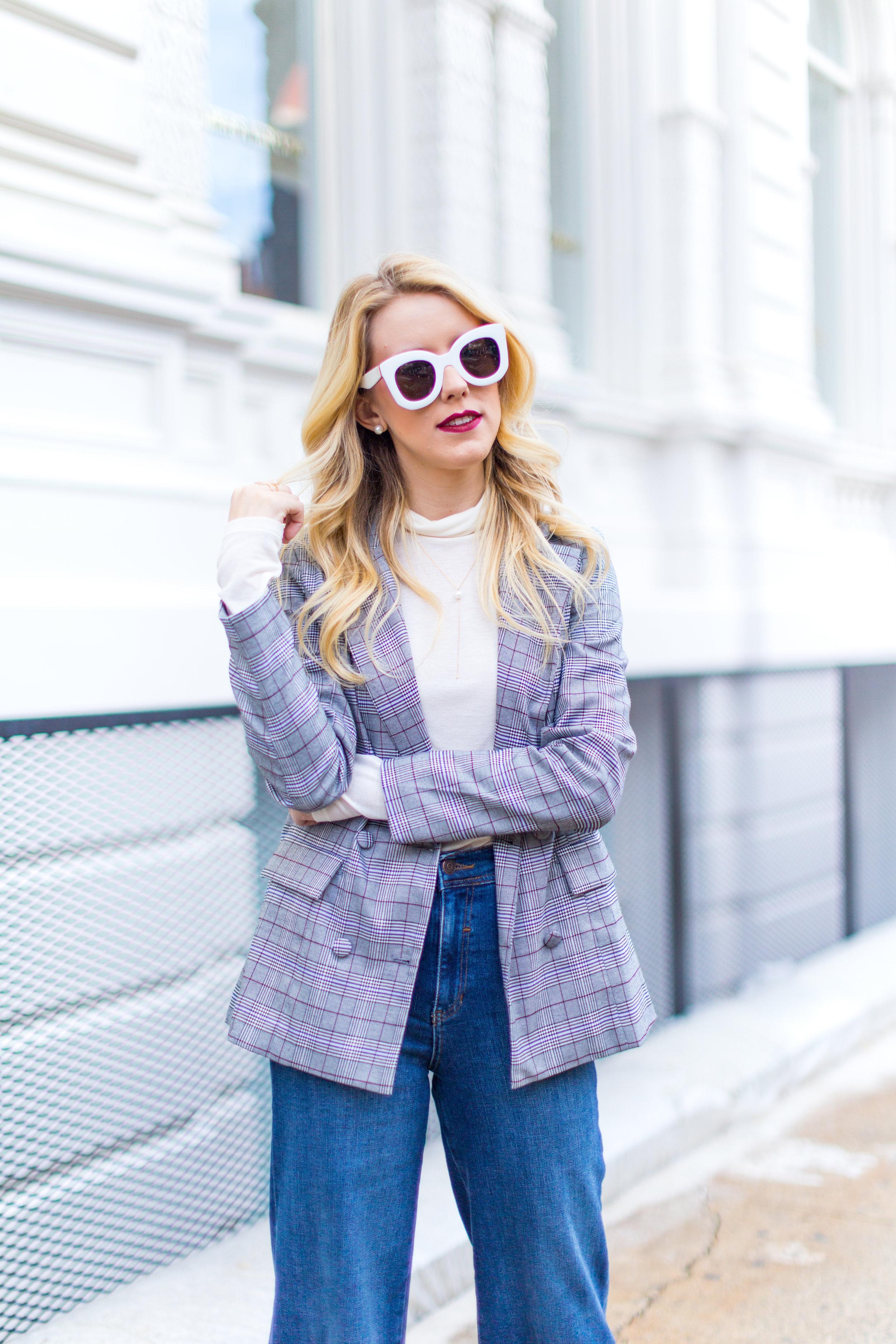 NYC Fall Fashion Trends Plaid Blazer.jpg