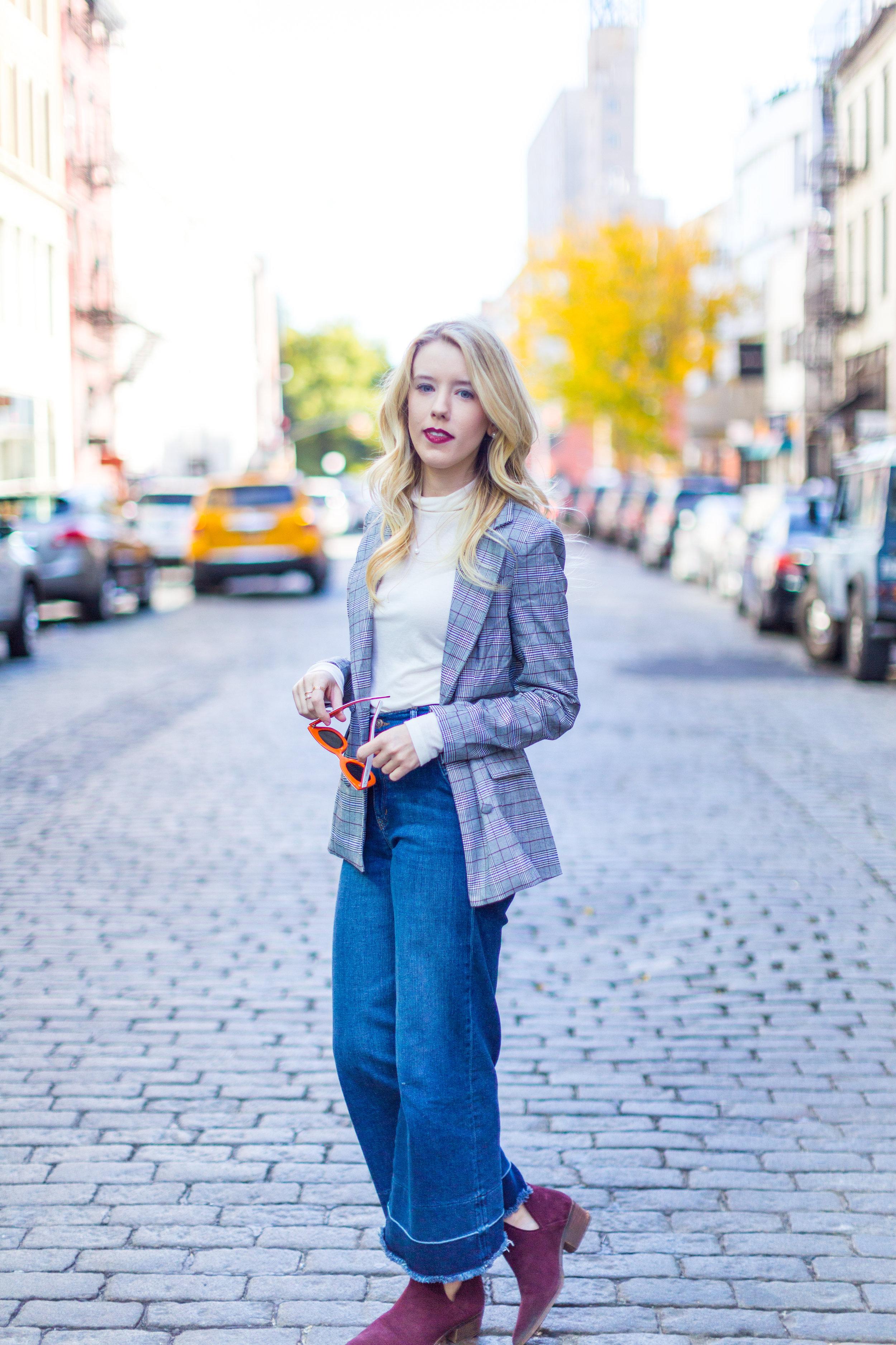NYC Fall Fashion Trends Plaid Blazer-6.jpg