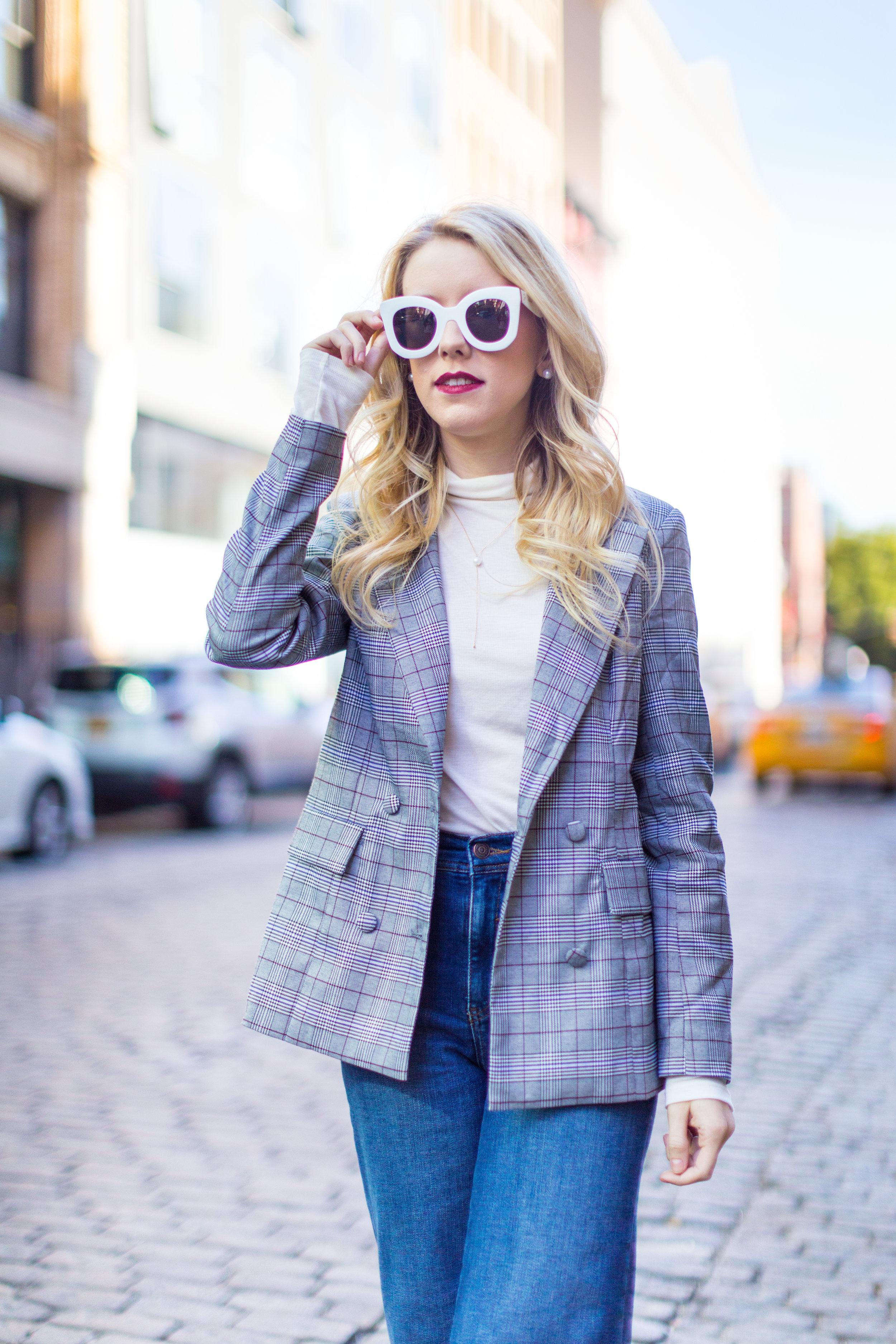 NYC Fall Fashion Trends Plaid Blazer-7.jpg