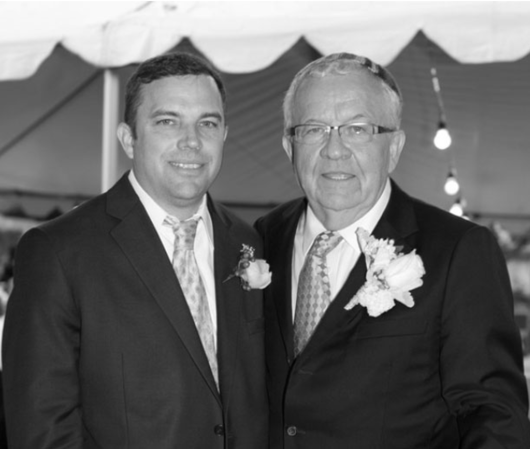 Matt and Bob at Bob's wedding