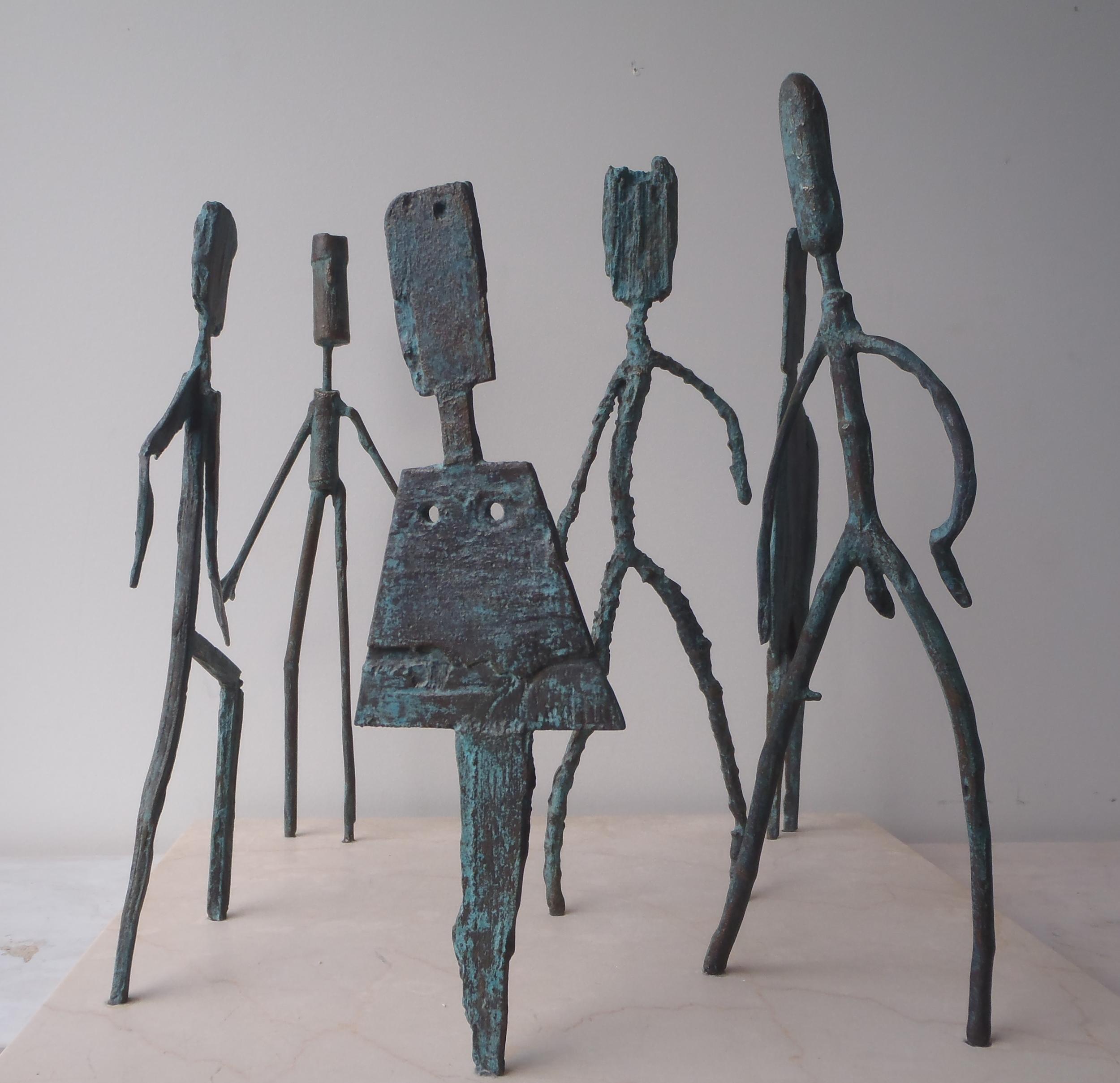 Bronze stick figures