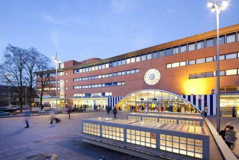 The main train station of Hilversum