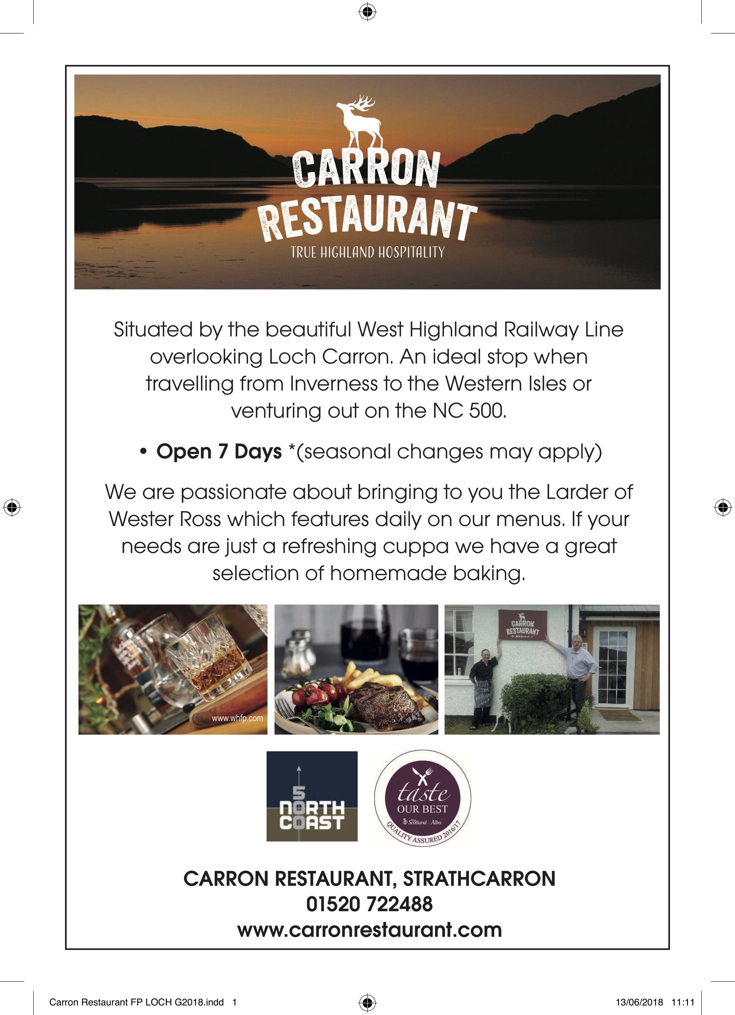 Carron Restaurant FP LOCH G2018.jpg